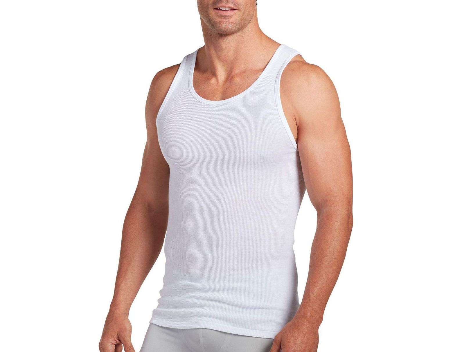 ae793dcf Jockey Big Man Cotton Ribbed Tank Top 2-pack in White for Men - Lyst