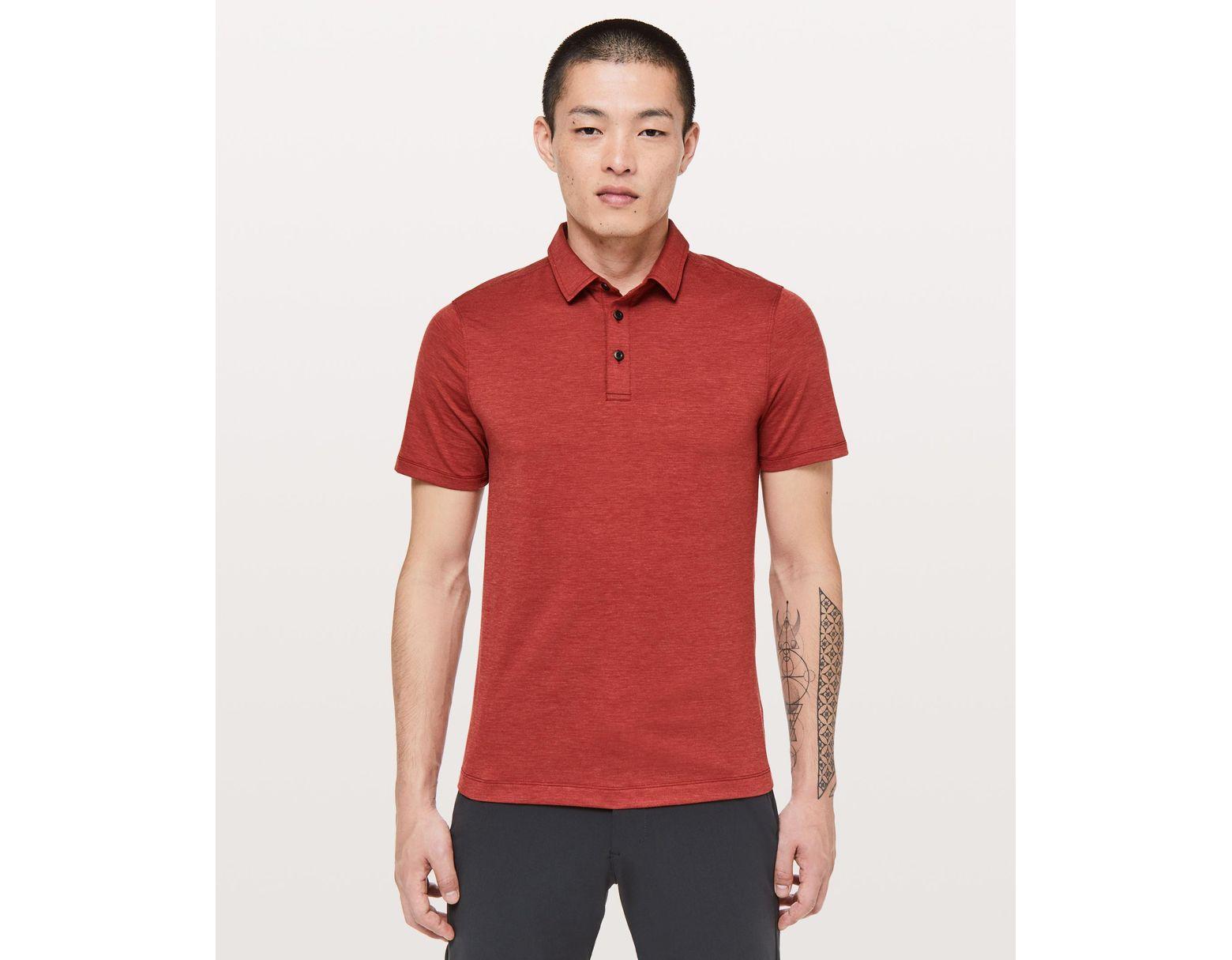 b463e5090 lululemon athletica Evolution Polo in Red for Men - Save 22% - Lyst