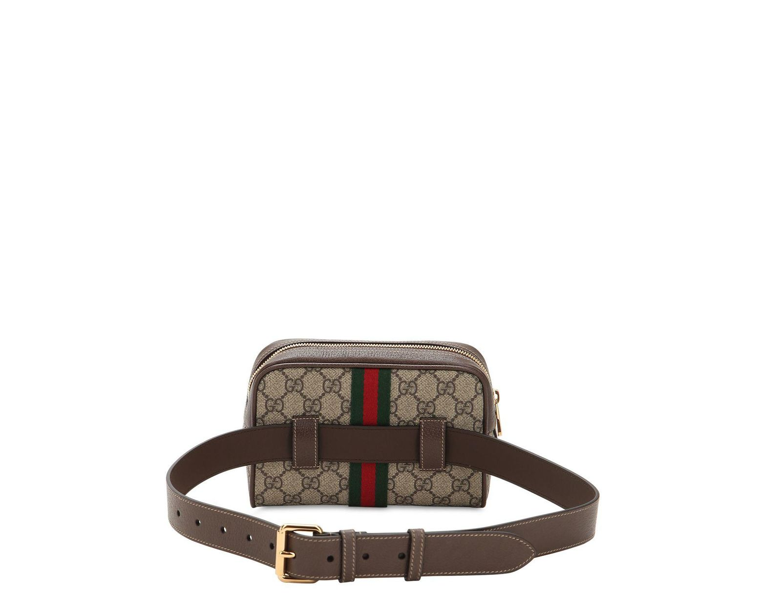 6a3f9862b502 Gucci Ophidia Gg Supreme Belt Bag in Brown - Save 17% - Lyst