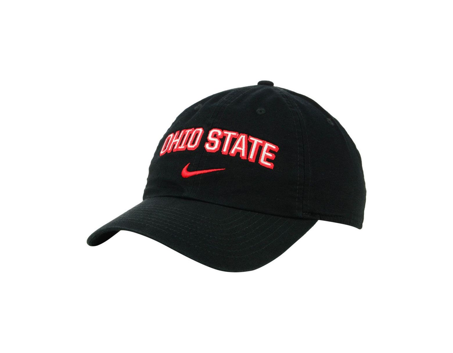 size 40 0e12f 1f914 Nike Ohio State Buckeyes H86 Wordmark Swoosh Cap in Black for Men - Lyst