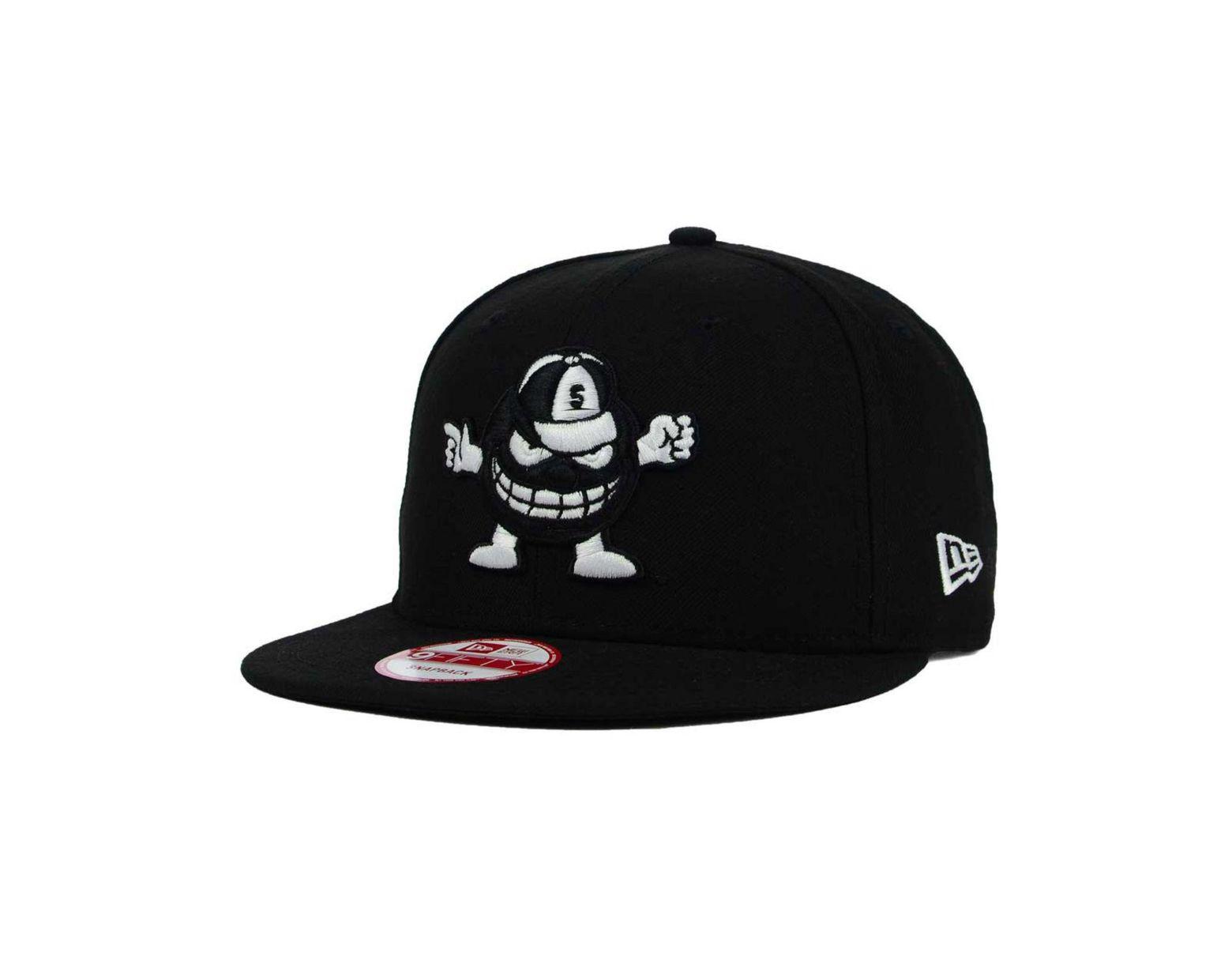 brand new 35d85 8753a KTZ Syracuse Orange Black White 9fifty Snapback Cap in Black for Men - Lyst