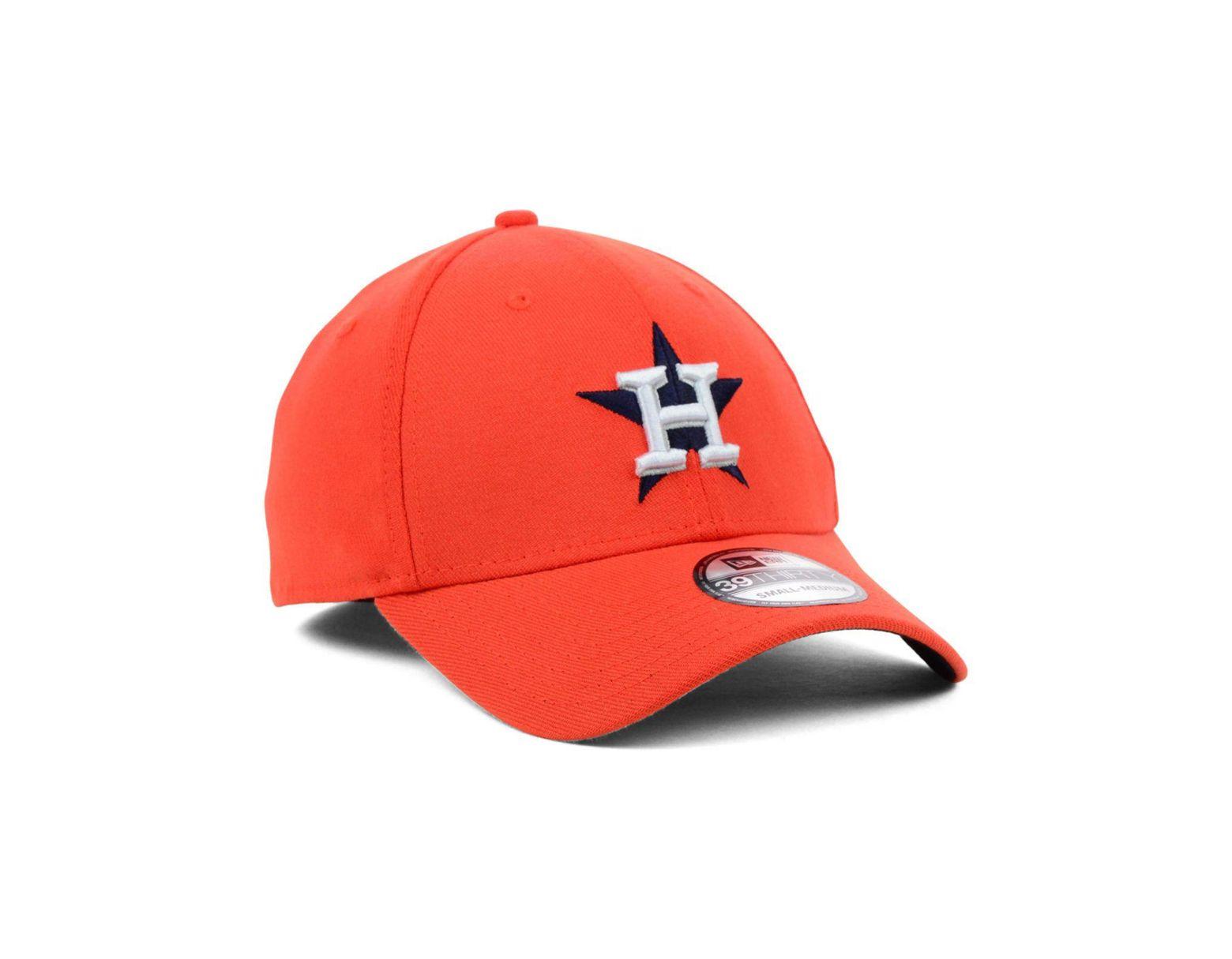 huge selection of b148a 294b8 KTZ Houston Astros Mlb Team Classic 39thirty Cap in Orange for Men - Lyst
