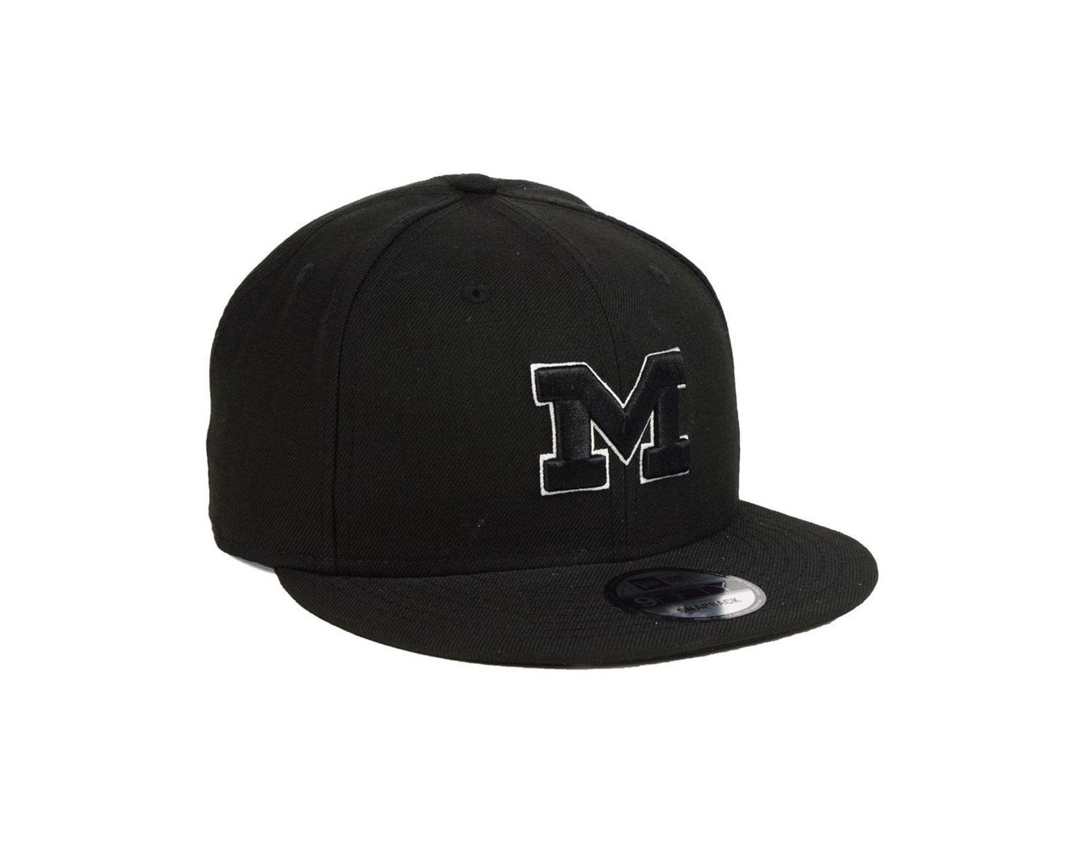 buy popular 9a2b3 5c0fe KTZ Michigan Wolverines Black White Fashion 9fifty Snapback Cap in Black  for Men - Lyst