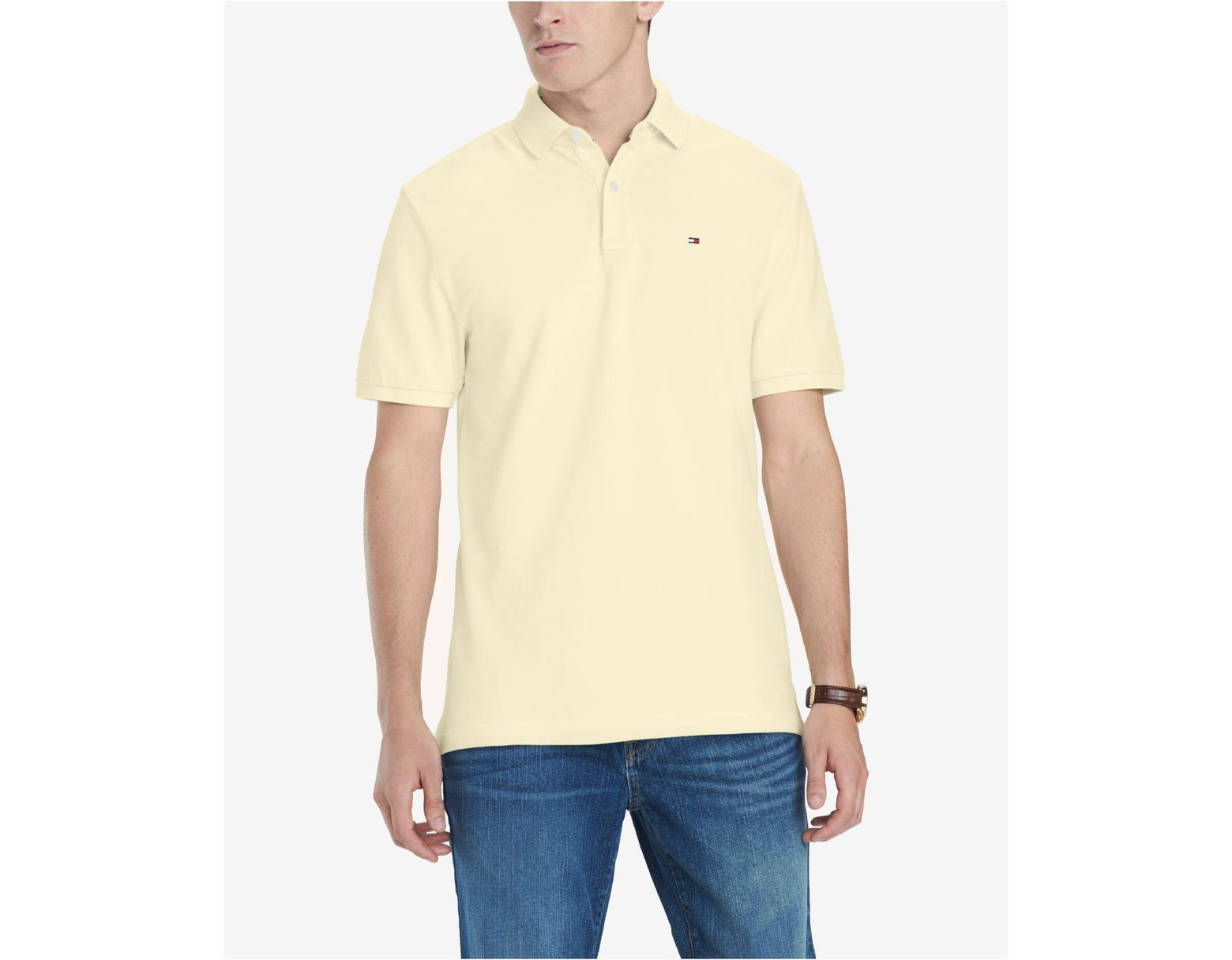 ce86402d Tommy Hilfiger Classic-fit Ivy Polo in Yellow for Men - Save 64% - Lyst