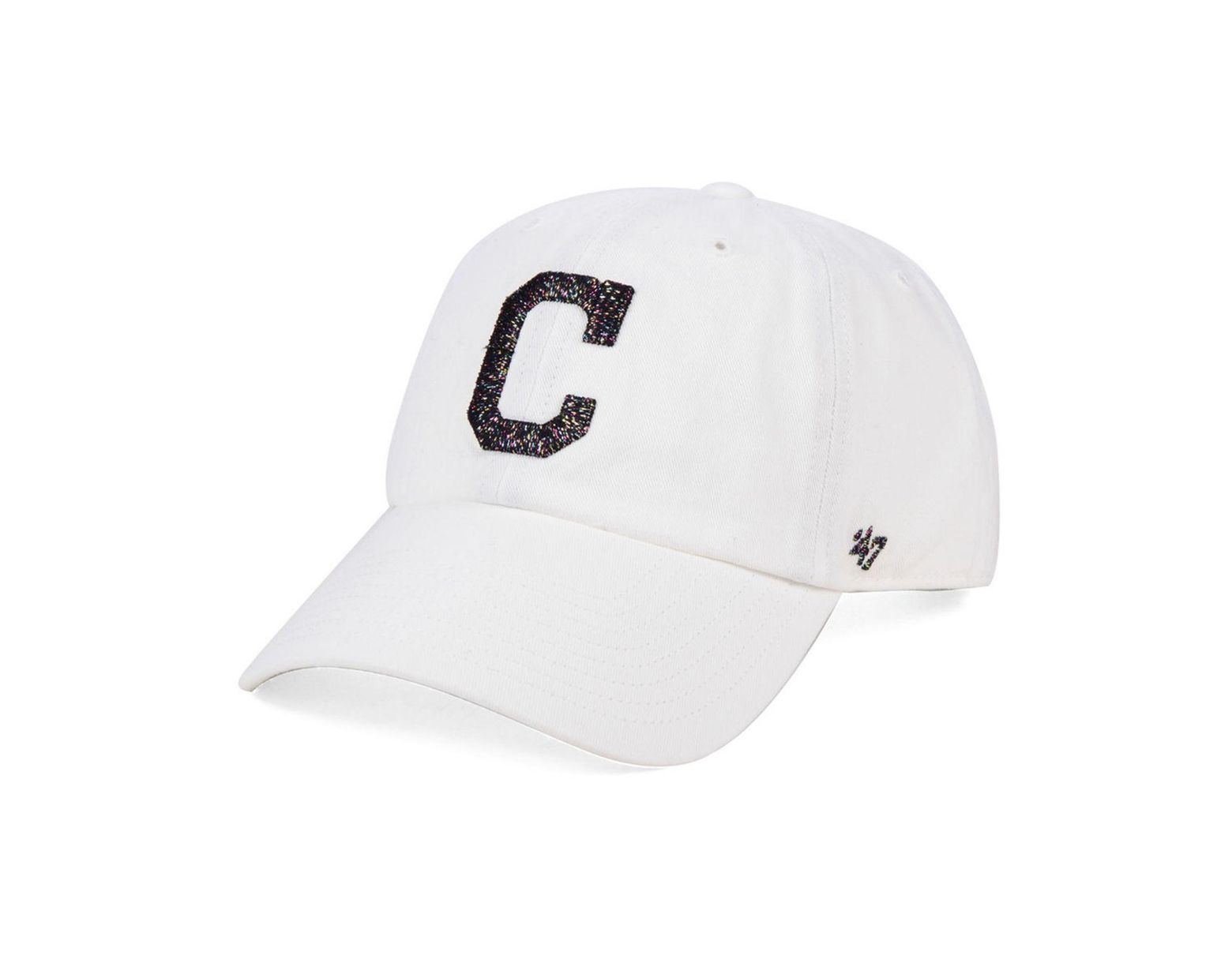a13b08987 47 Brand Cleveland Indians Galactic Clean Up Cap in White for Men - Lyst