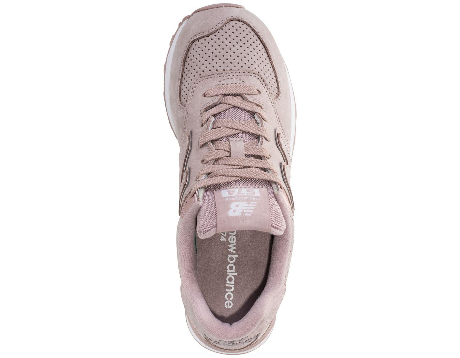 e517d592dd0c New Balance 574 Rose Gold Casual Sneakers From Finish Line - Lyst