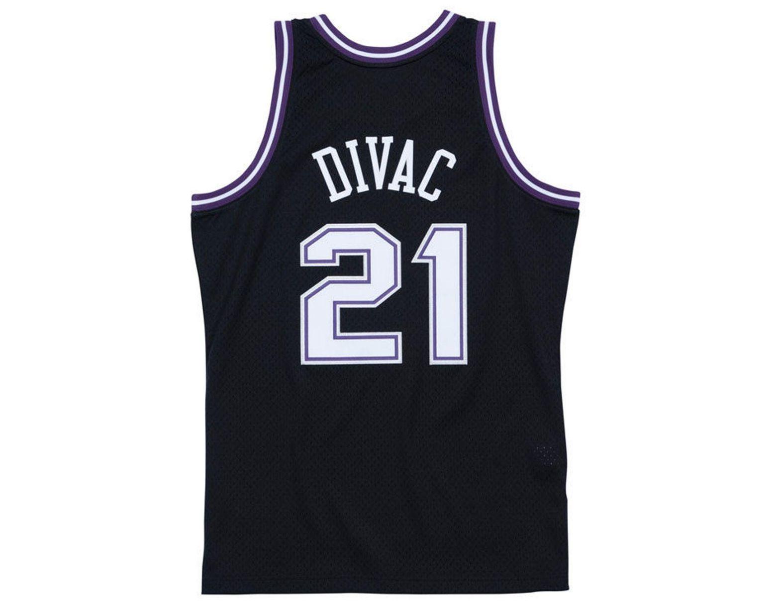 1e2620fc2 Mitchell   Ness. Black Vlade Divac Sacramento Kings Hardwood Classic  Swingman Jersey