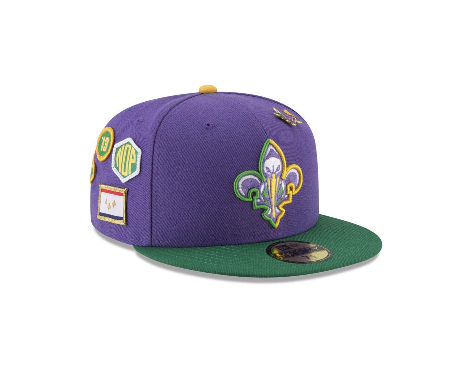 new product ca05c 402bd KTZ New Orleans Pelicans City On-court 59fifty Fitted Cap in Purple for Men  - Lyst