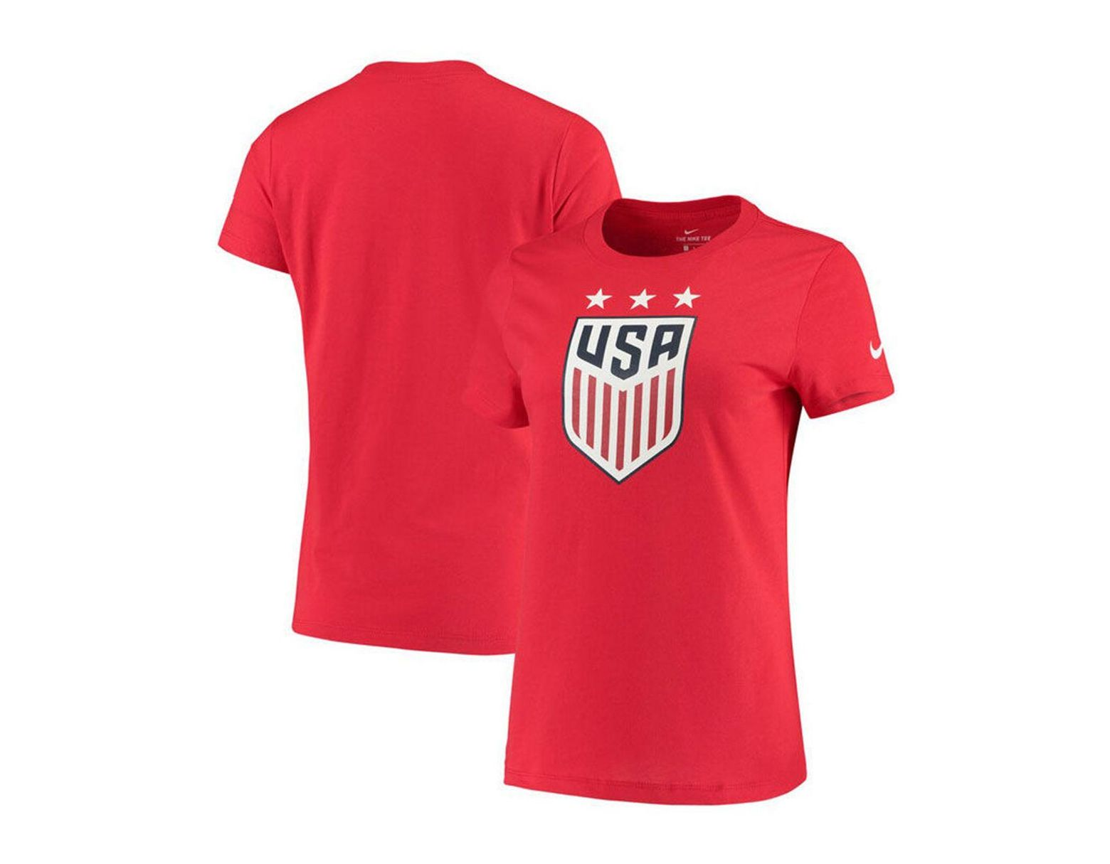 f5b55fc7dc3 Nike Usa National Team Evergreen Crest T-shirt in Red - Lyst