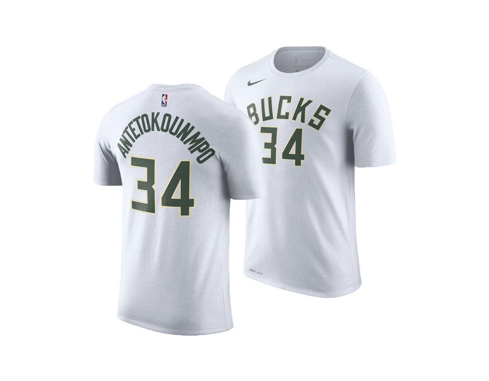 ac24e51963b Nike Giannis Antetokounmpo Nba Player Name & Number T-shirt in White for  Men - Save 26% - Lyst