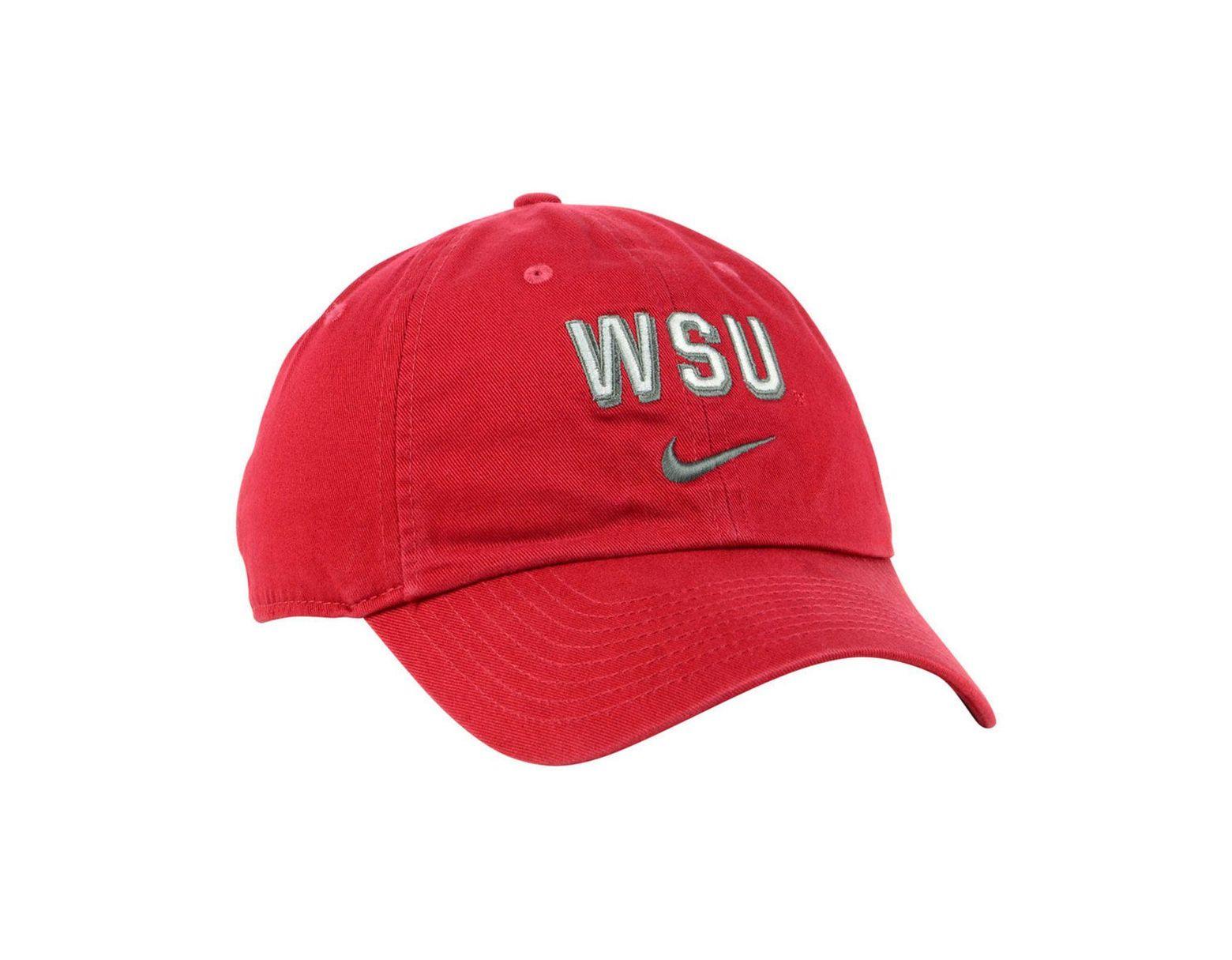 buy online 25036 265f4 Nike Washington State Cougars H86 Wordmark Swoosh Cap in Red for Men - Lyst
