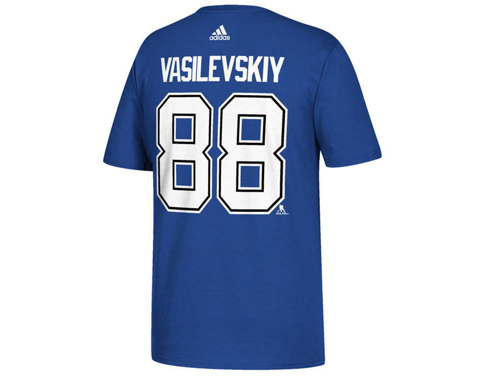online store 4c7c9 646d3 adidas Andrei Vasilevskiy Tampa Bay Lightning Silver Player T-shirt in Blue  for Men - Lyst