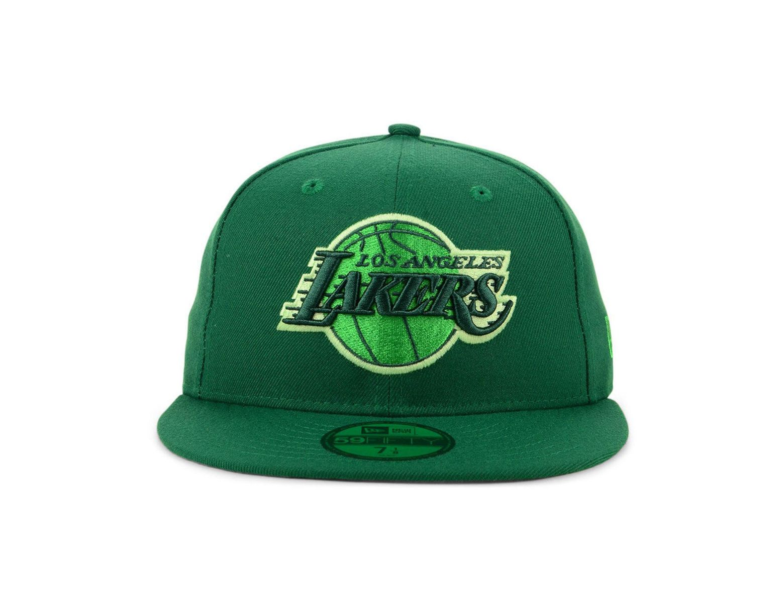 promo code 0c733 11aee KTZ Los Angeles Lakers Color Prism Pack 59fifty Fitted Cap in Green for Men  - Lyst