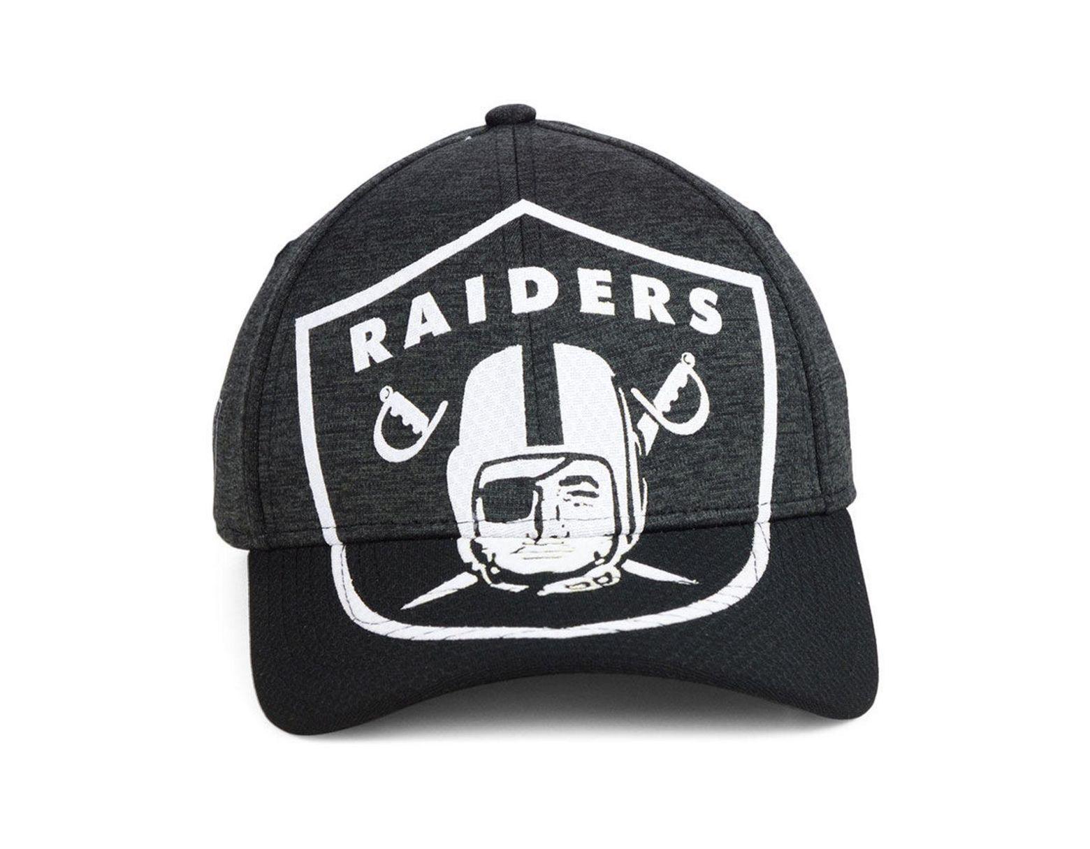 best website 44022 8c379 KTZ Oakland Raiders Oversized Laser Cut Logo 39thirty Cap in Black for Men  - Lyst