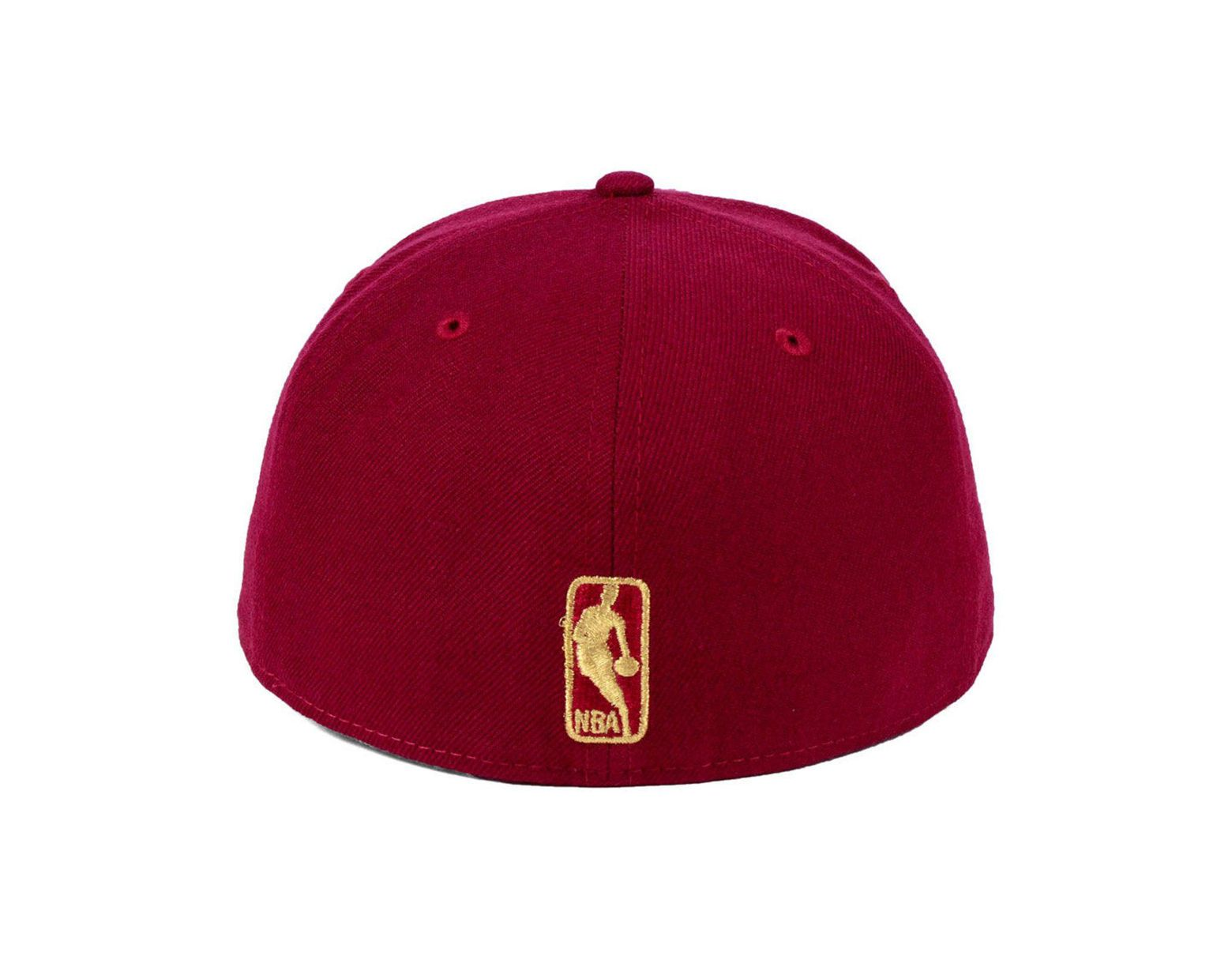 new style bd0df 81d02 KTZ Chicago Bulls Fall O gold 59fifty Fitted Cap in Red for Men - Lyst