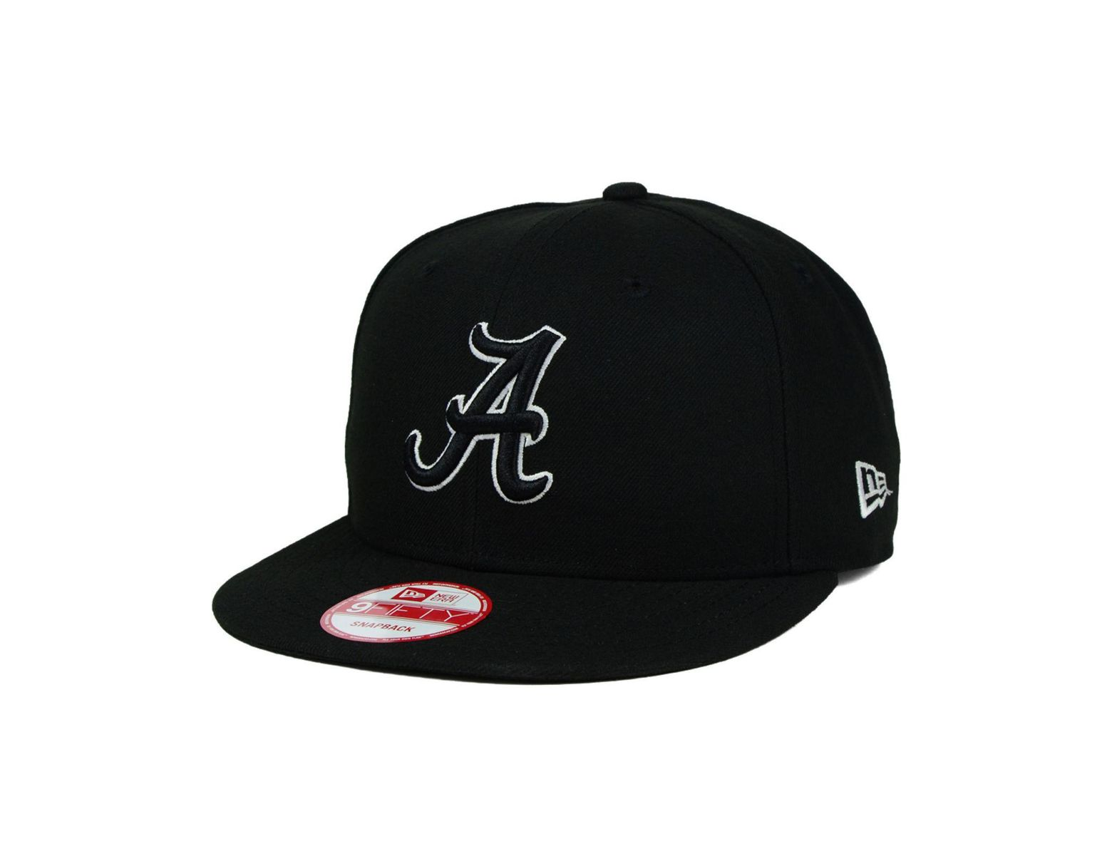100% authentic 00309 b060d KTZ Alabama Crimson Tide Black White 9fifty Snapback Cap in Black for Men -  Lyst