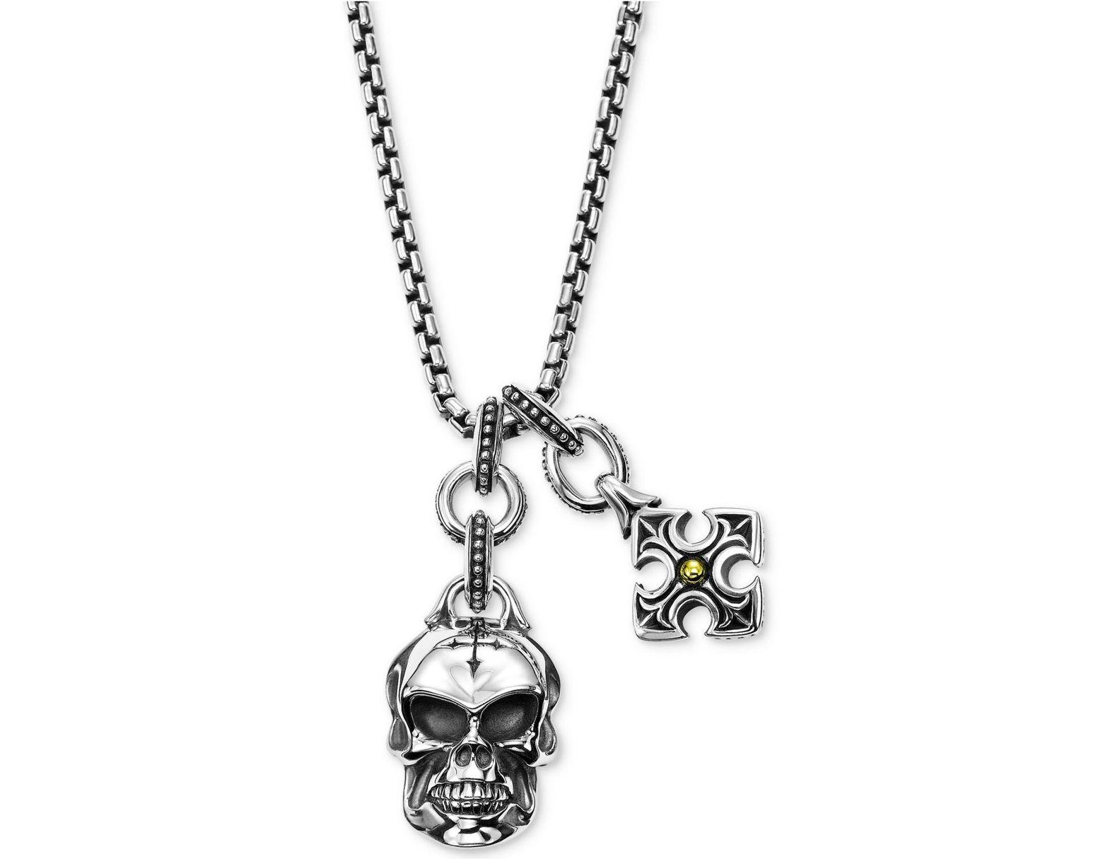 63149af31 Scott Kay Men's Multi-charm Pendant Necklace In Sterling Silver & 18k Gold  in Metallic - Lyst