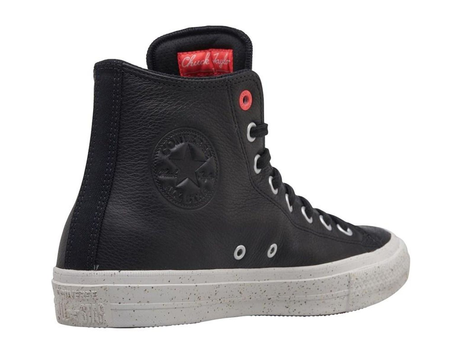 6016d2a901 Converse Chuck Taylor All Star Ii Hi Trainers Black/solar Red in Black for  Men - Lyst