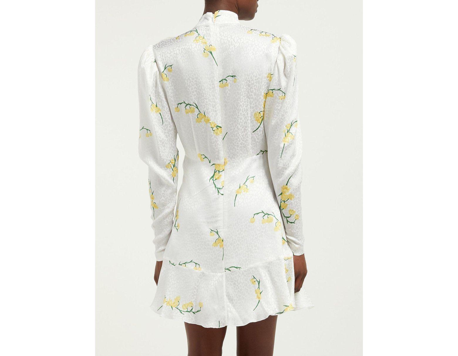 38ecc1a954c87 Alessandra Rich Floral Print Silk Devoré Mini Dress - Save 54% - Lyst
