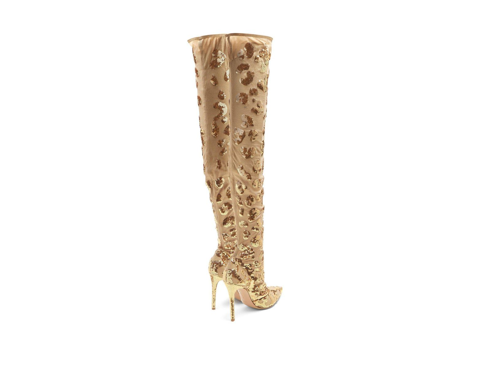 6e10023ee Gianvito Rossi Daze Cuissard Over The Knee Boots in Metallic - Save 18% -  Lyst