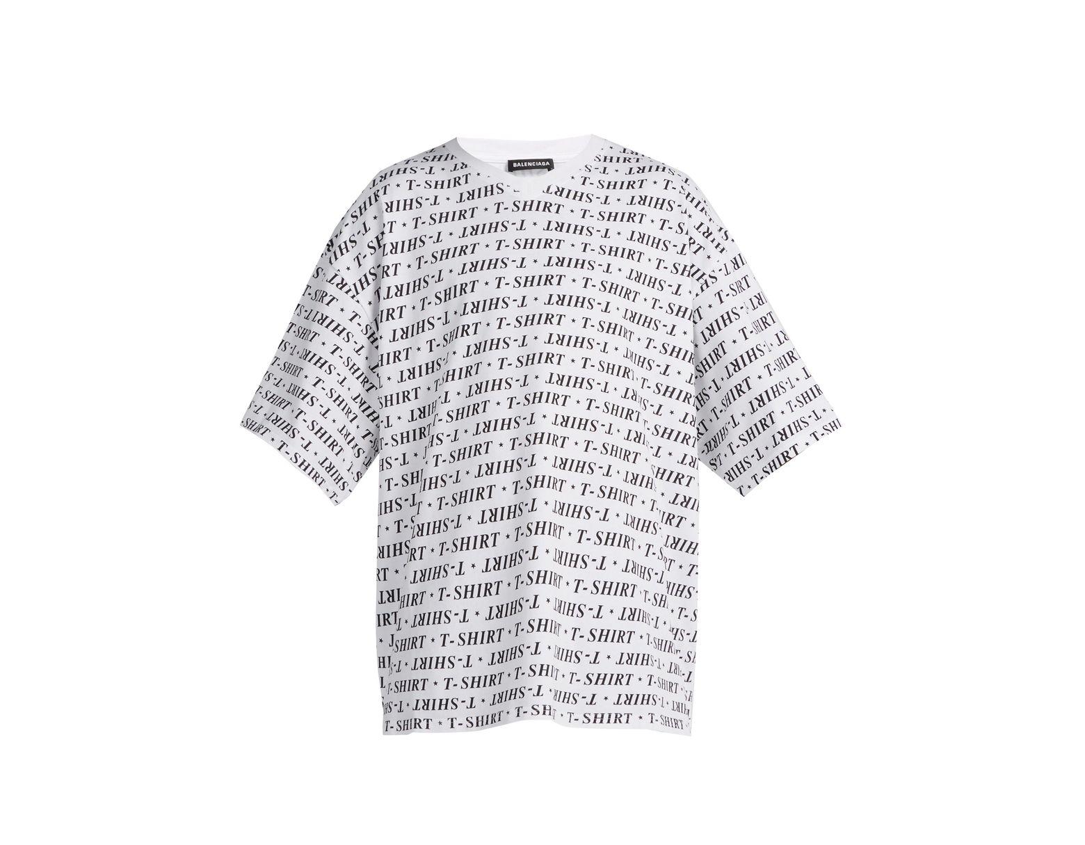 4c138fe2d71d Balenciaga Oversized V Neck Cotton T Shirt for Men - Lyst