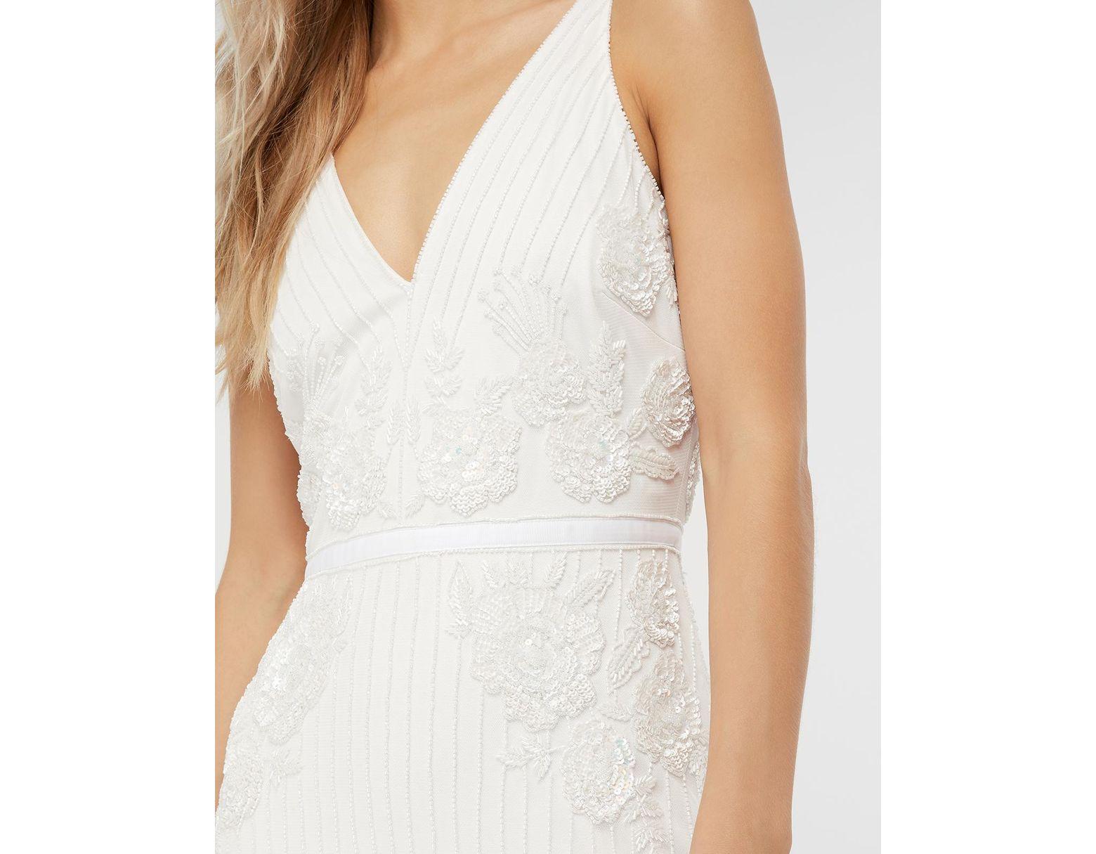 2e0428ac7af3 Monsoon Margaret Embellished Bridal Maxi Dress in White - Lyst