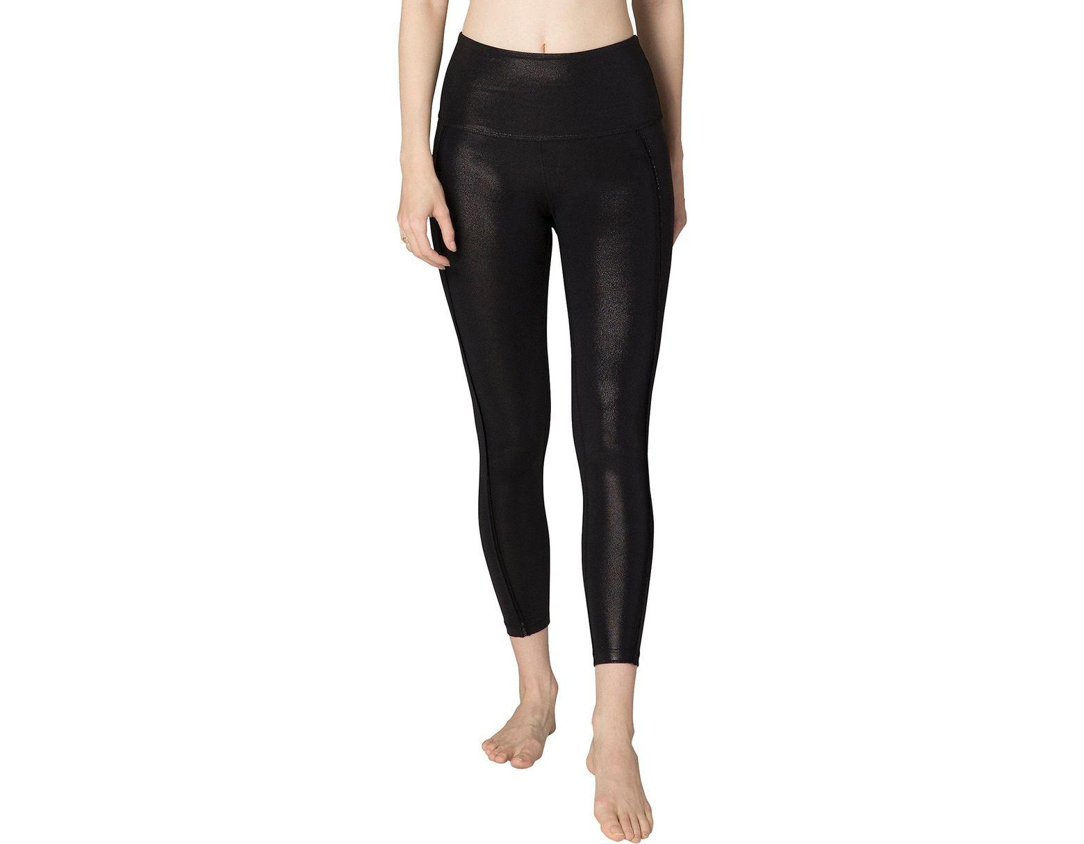3fbcea0100 Beyond Yoga Pearlized Ride It High Waisted Midi Legging in Black - Lyst