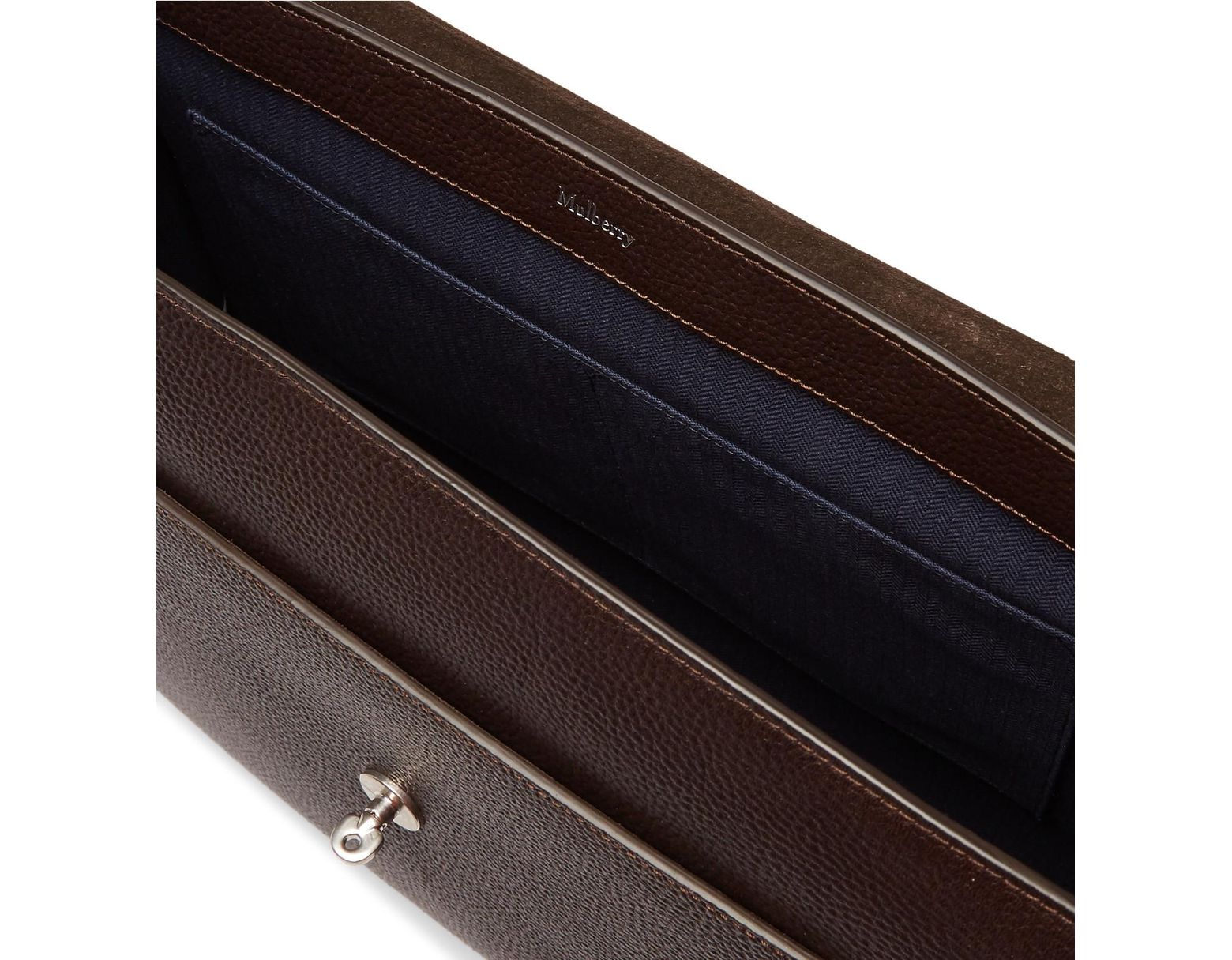 cb264cc49 Mulberry East West Antony Padlock Pebble-grain Leather Messenger Bag in  Brown for Men - Lyst