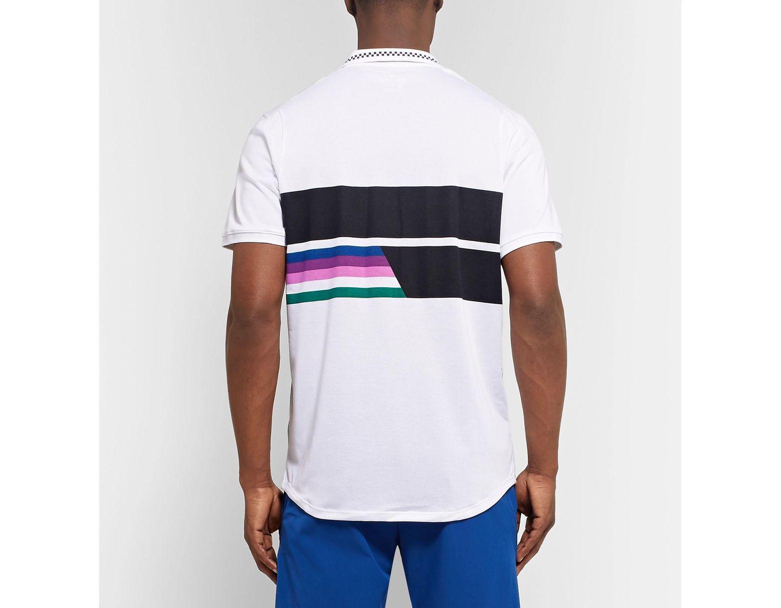 7aba11929 Nike Nikecourt Advantage Printed Dri-fit Tennis Polo Shirt in White for Men  - Lyst