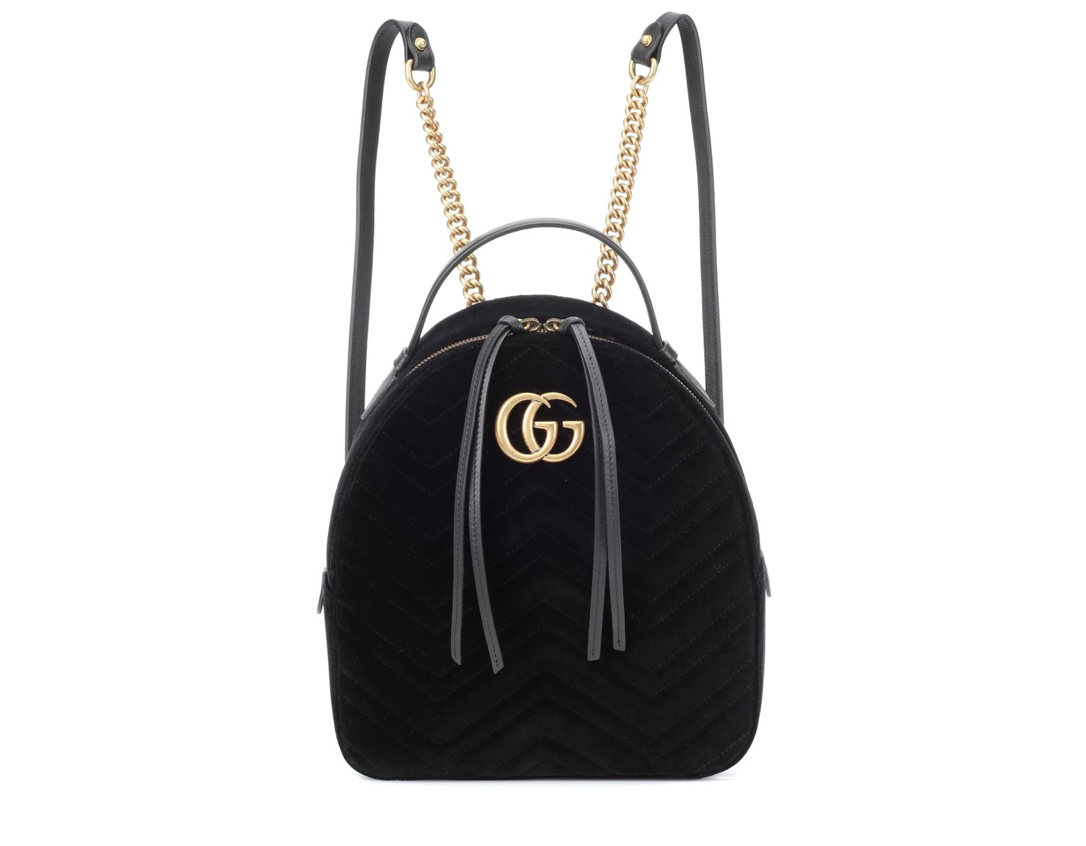 83d8f77c9a0622 Gucci GG Marmont Velvet Backpack in Black - Lyst