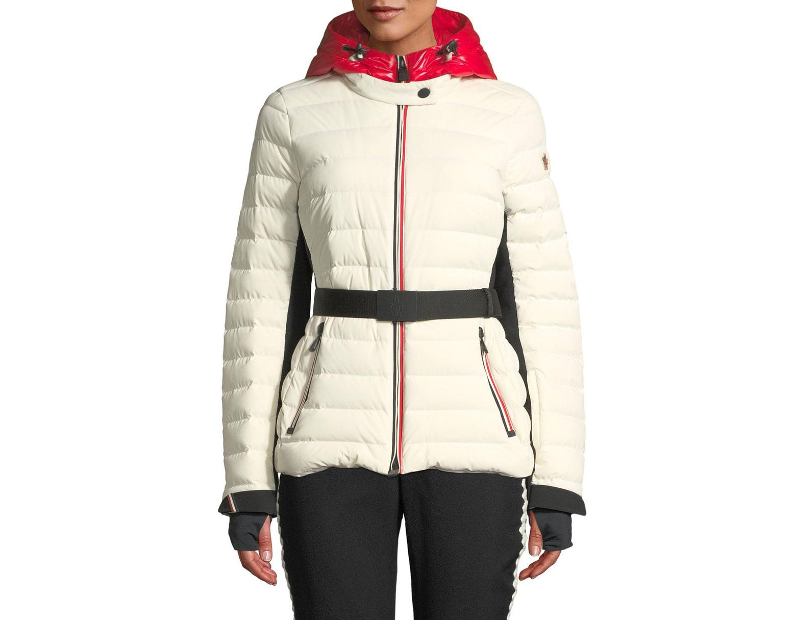 262768a2f Moncler Grenoble Bruche Channel-quilted Puffer Coat in White - Lyst