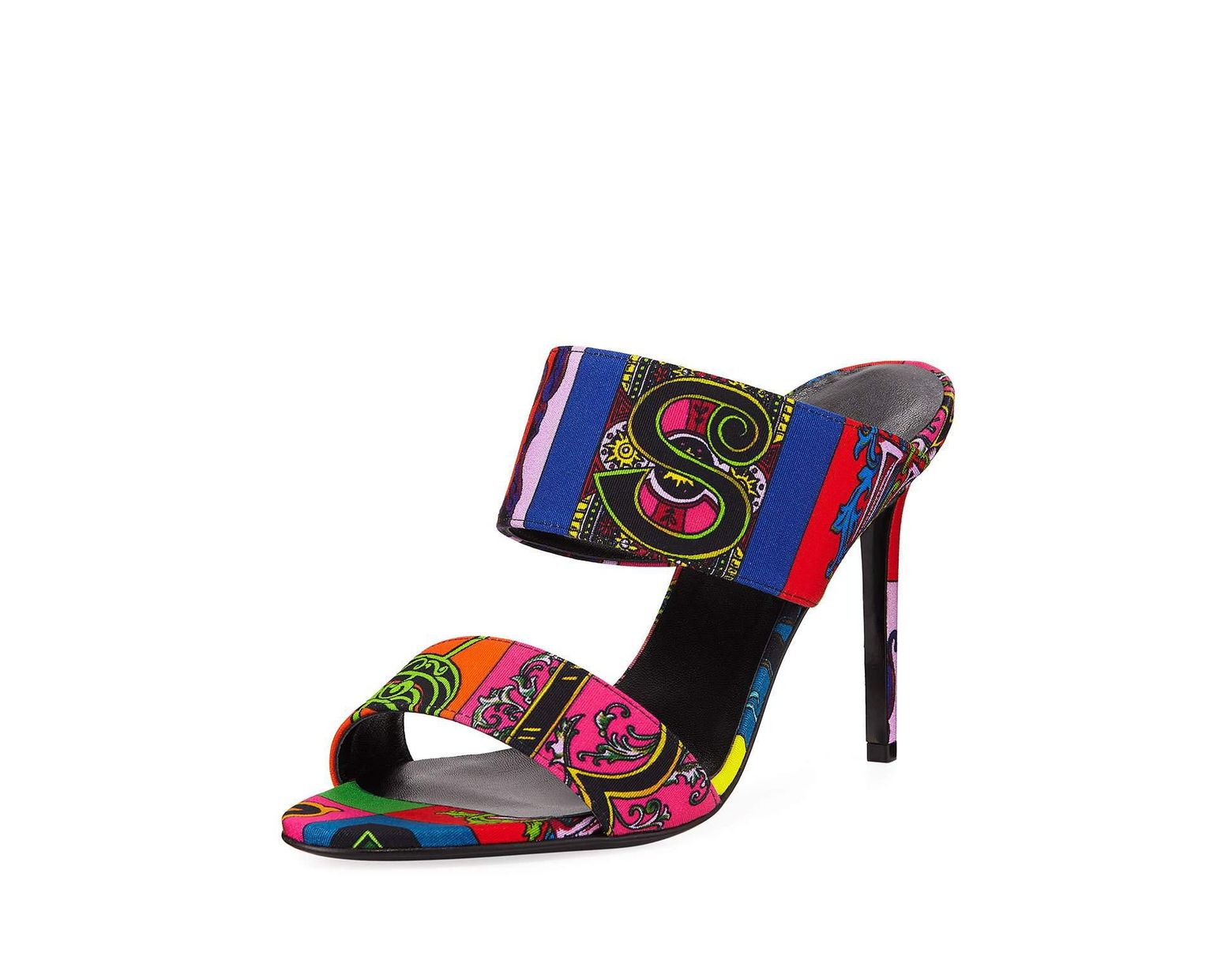 a8dbb41fb5 Versace Alphabet Printed Sandal Sandal Slides in Blue - Lyst