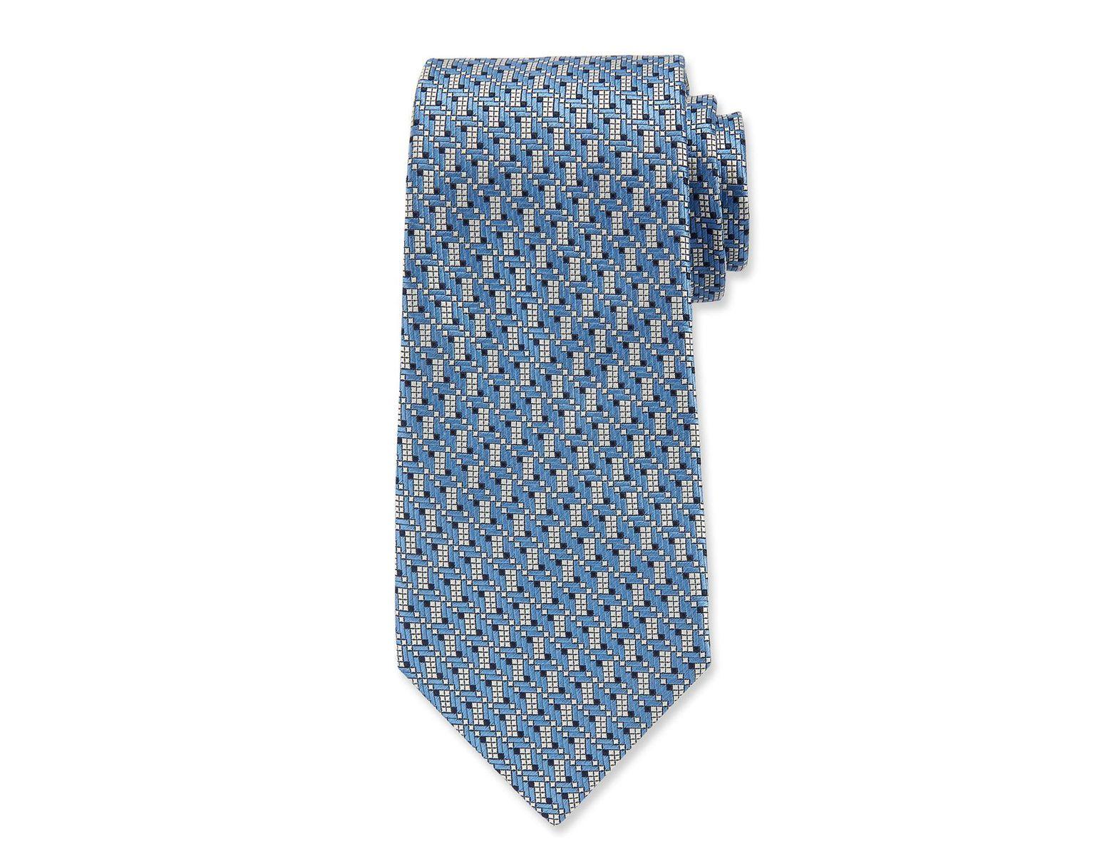 e2035c21 Blue Men's Silk Graphic Micro Tie