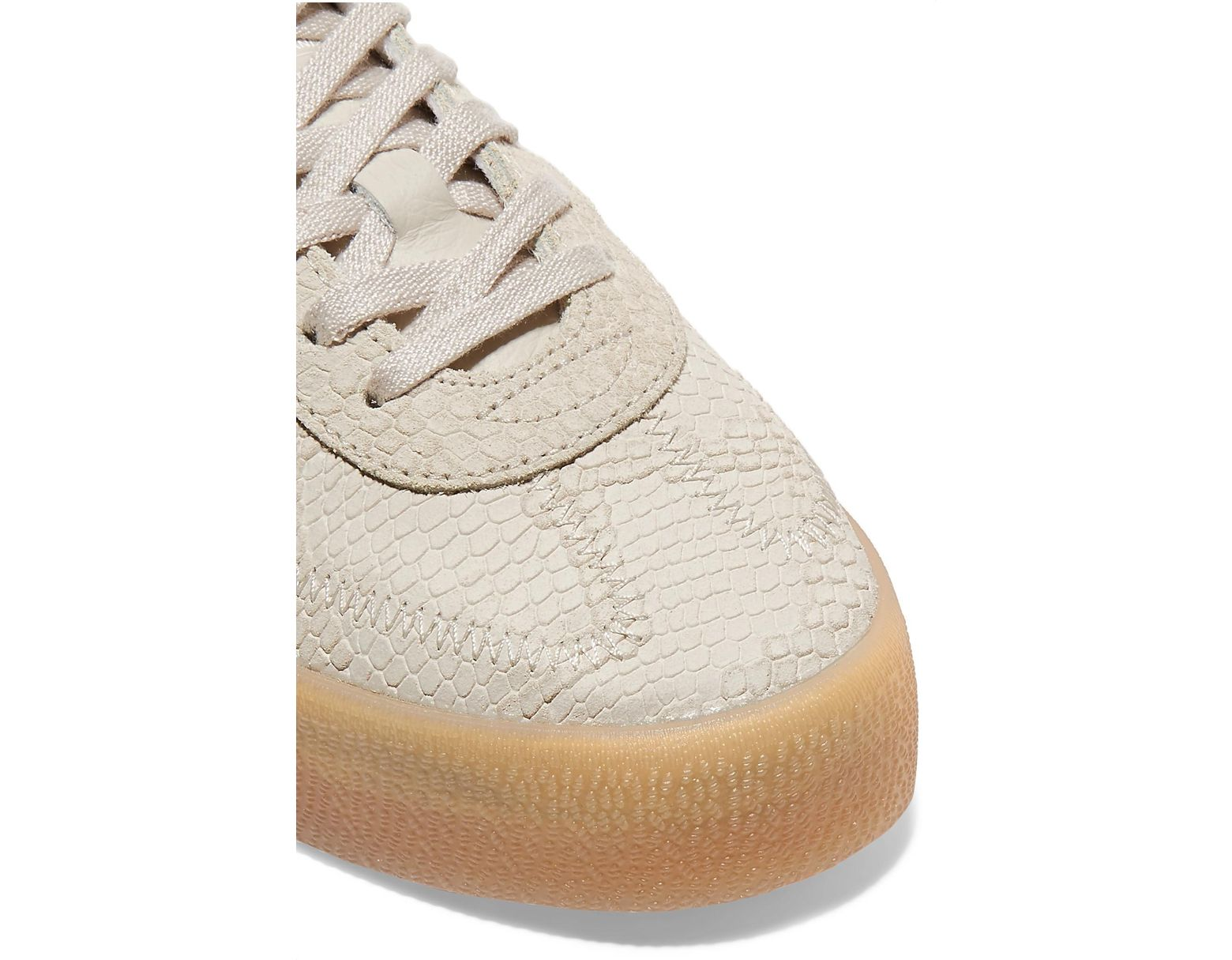 013f7f491fb2 adidas Originals Samba Rose Snake-effect Suede And Leather Platform  Sneakers in Brown - Lyst