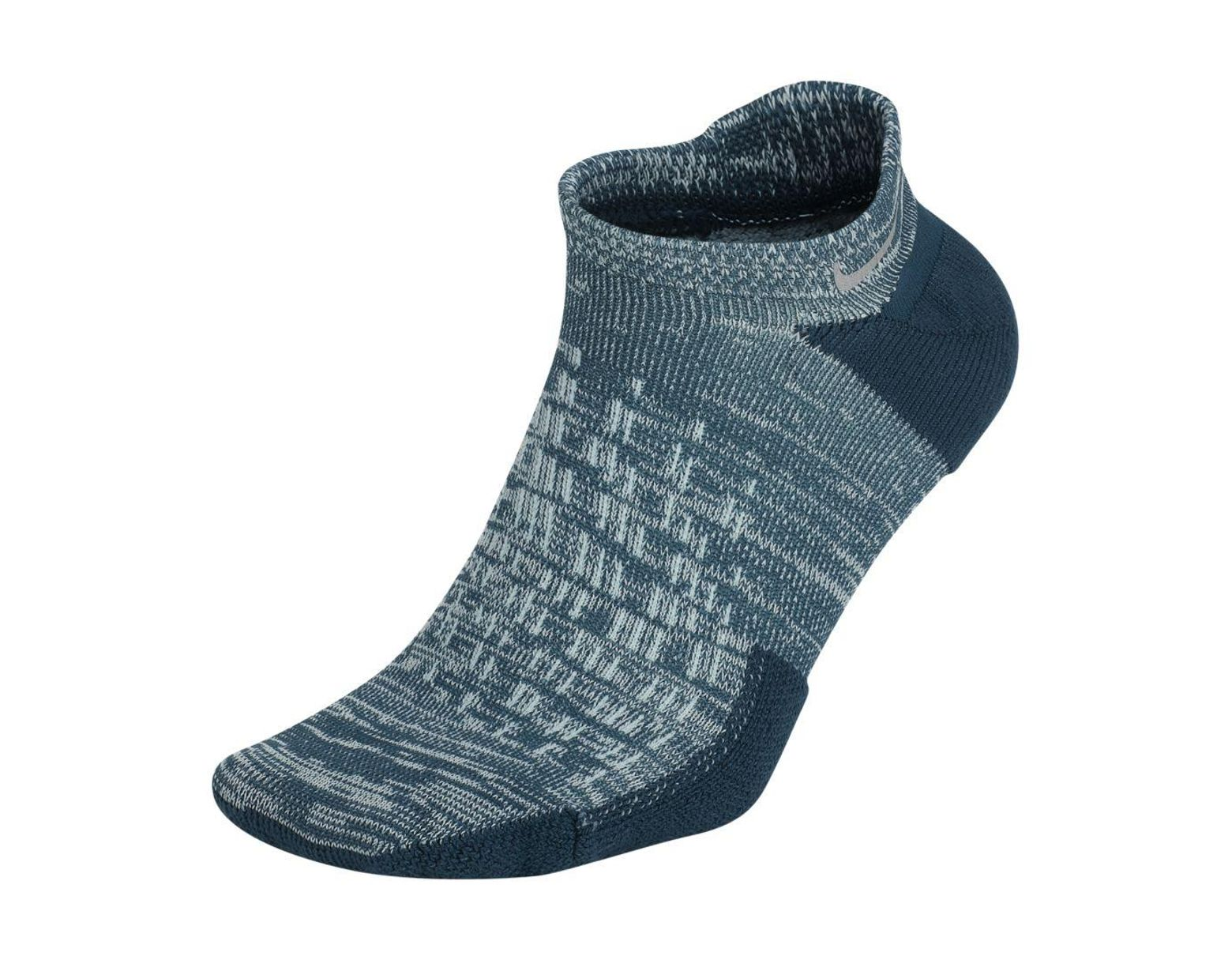 d989f7c88 Nike Elite Cushioned No-show Running Socks in Blue for Men - Lyst