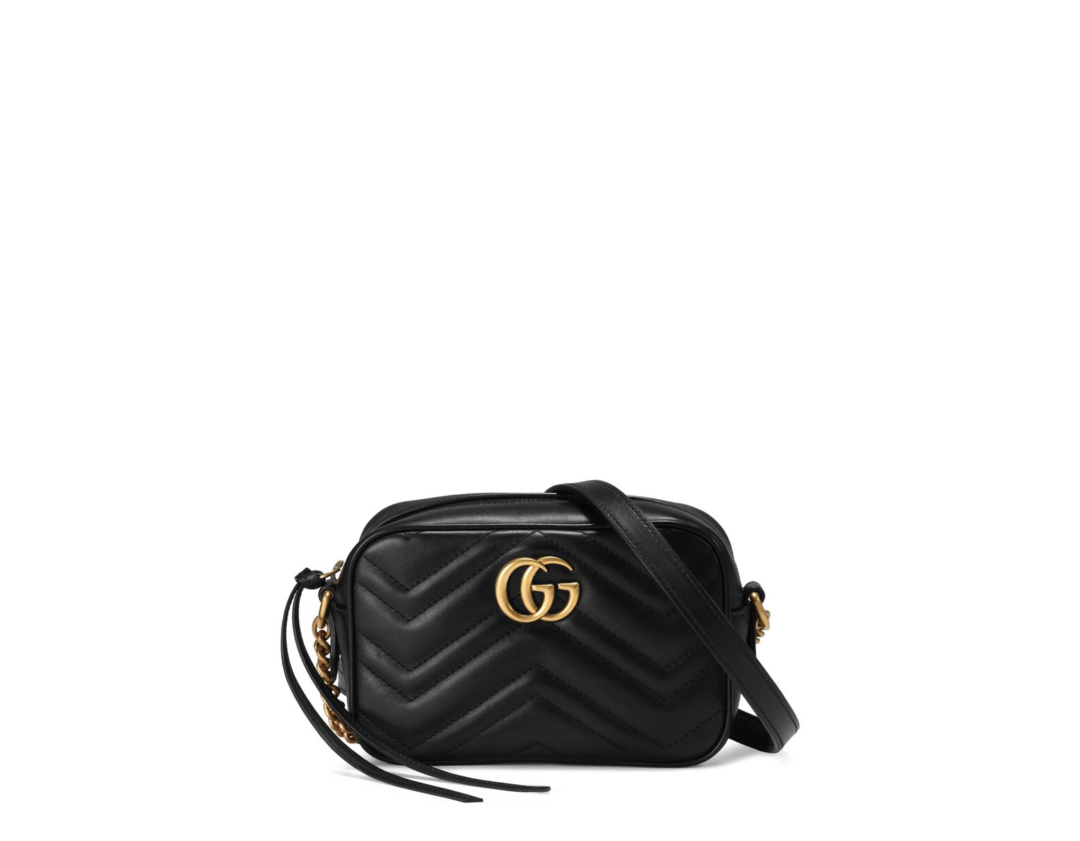 d8e7151bea91 Gucci GG Marmont Camera Bag in Black - Save 22% - Lyst