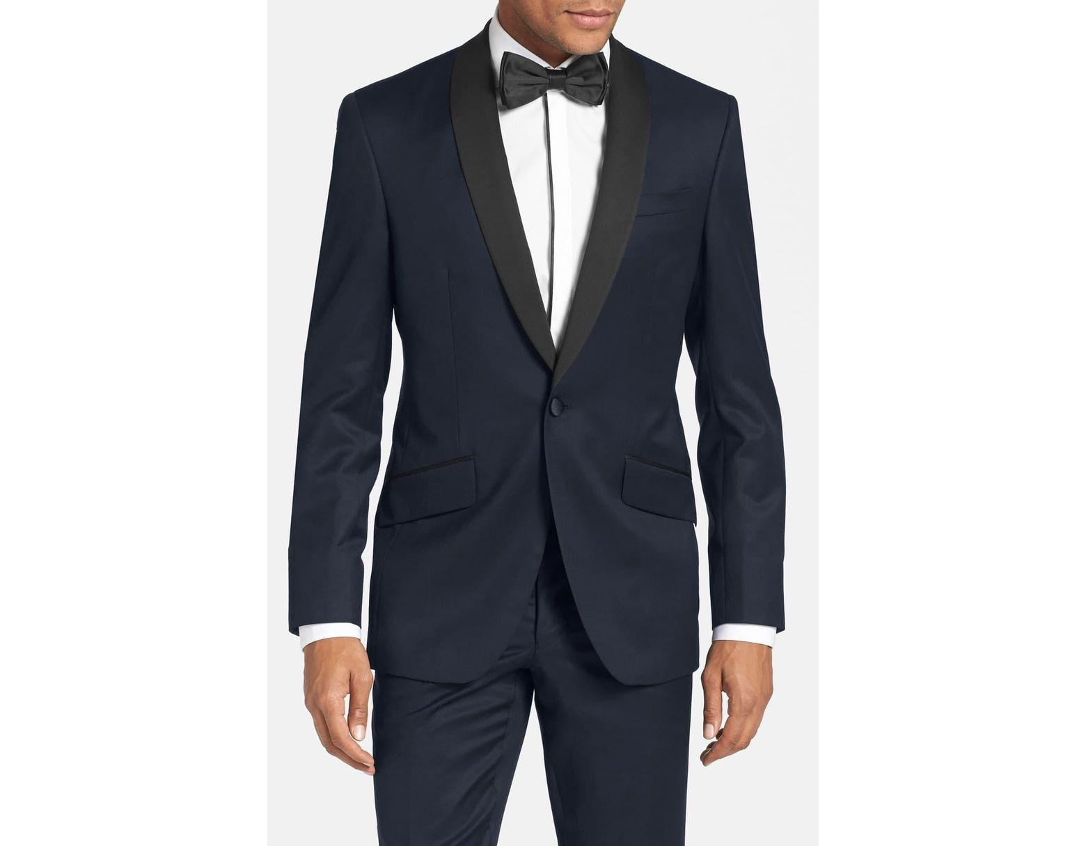 cdb9de455459eb Ted Baker Josh Trim Fit Navy Shawl Lapel Tuxedo in Black for Men - Lyst