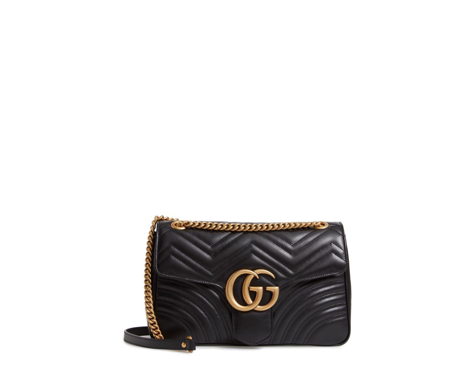 98103053 Gucci Medium Gg Marmont 2.0 Matelassé Leather Shoulder Bag - Lyst