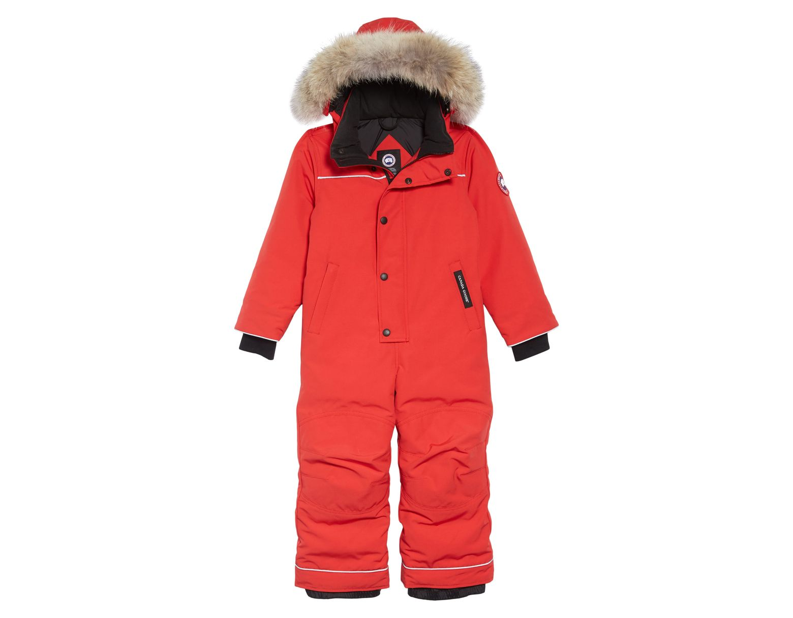 eb070b41e Canada Goose Baby Grizzly Snowsuit With Genuine Coyote Fur Trim in Red -  Save 6% - Lyst