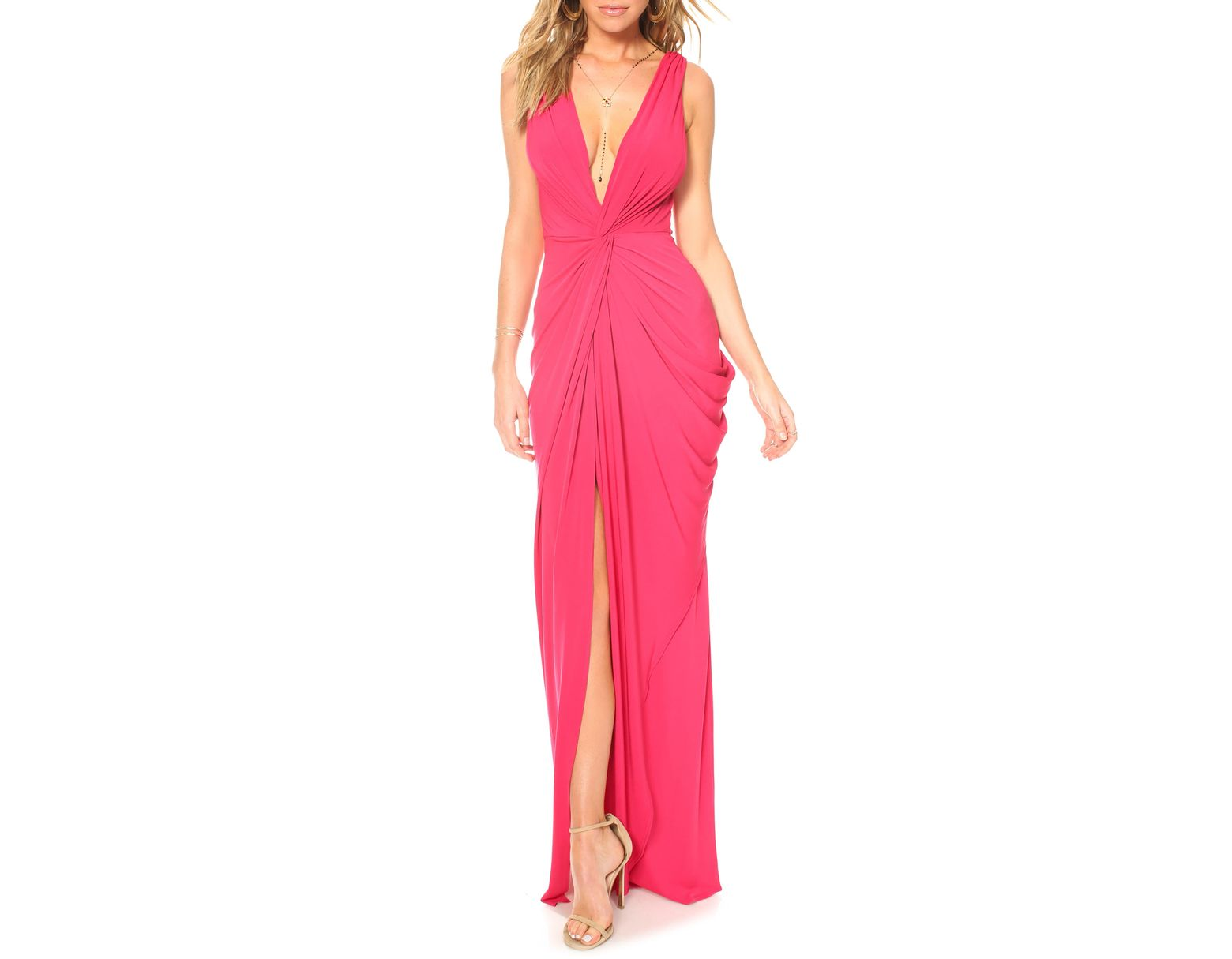 0a3a7d7b9c6 Katie May Leo Twist Front Evening Dress in Red - Lyst