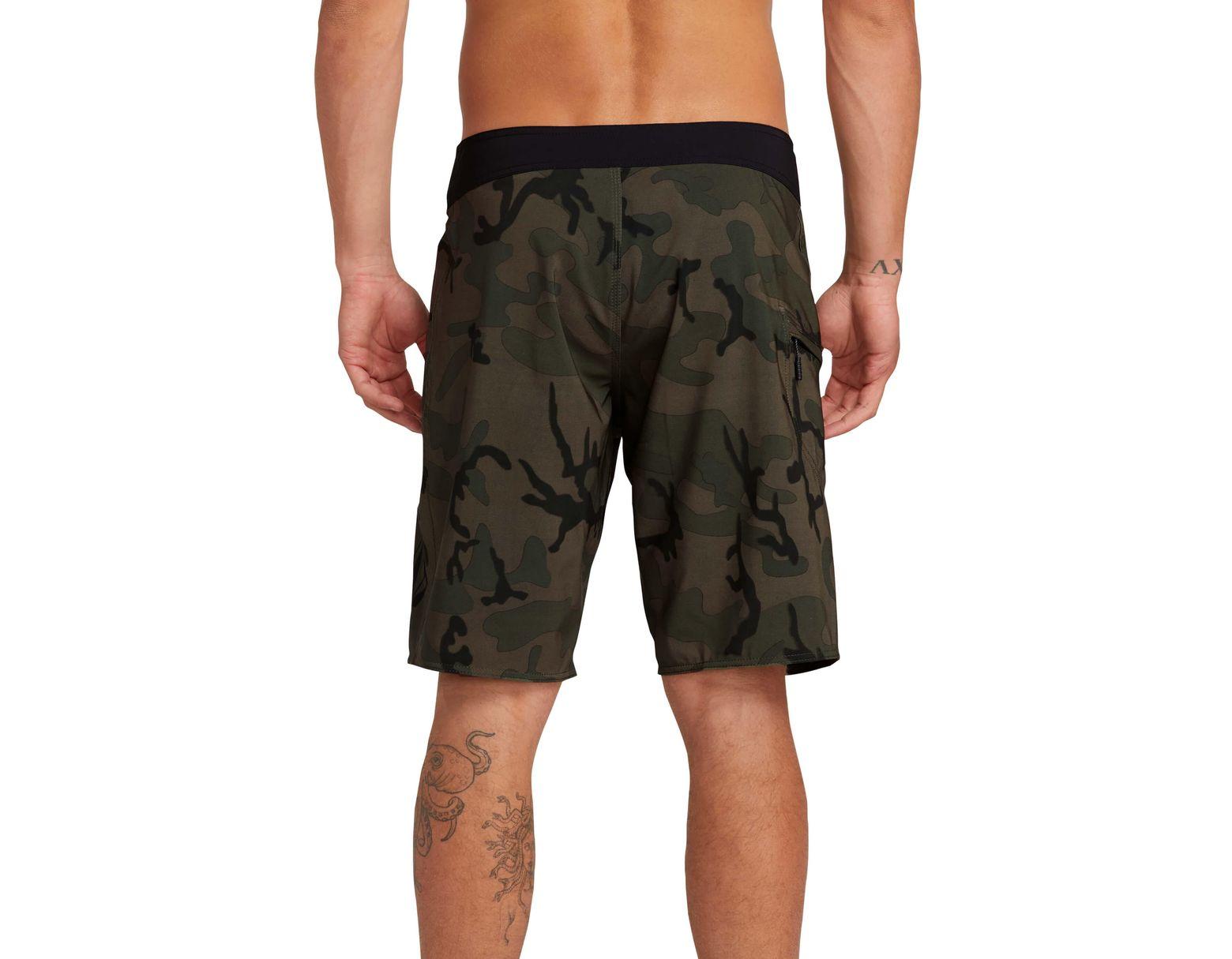 48b6e748e821e Lyst - Volcom Deadly Stones 2.0 Board Shorts in Green for Men