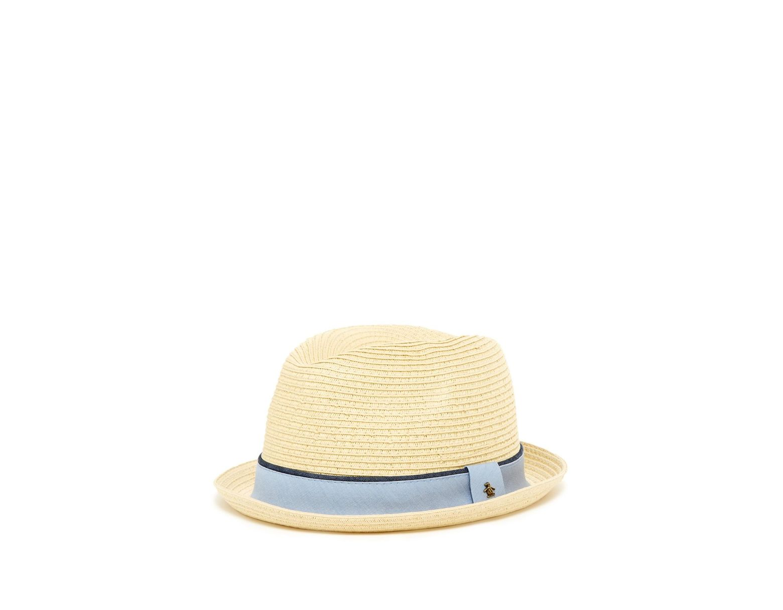 3c800461da839 Lyst - Original Penguin Straw Porkpie Hat in Natural for Men