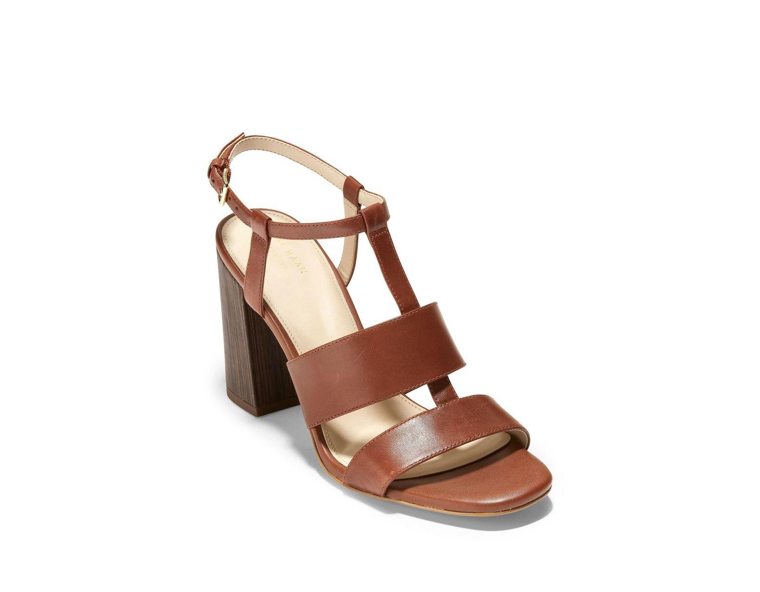 Block Women's Brown Grand Sandal Cherie Heel WE9DH2I