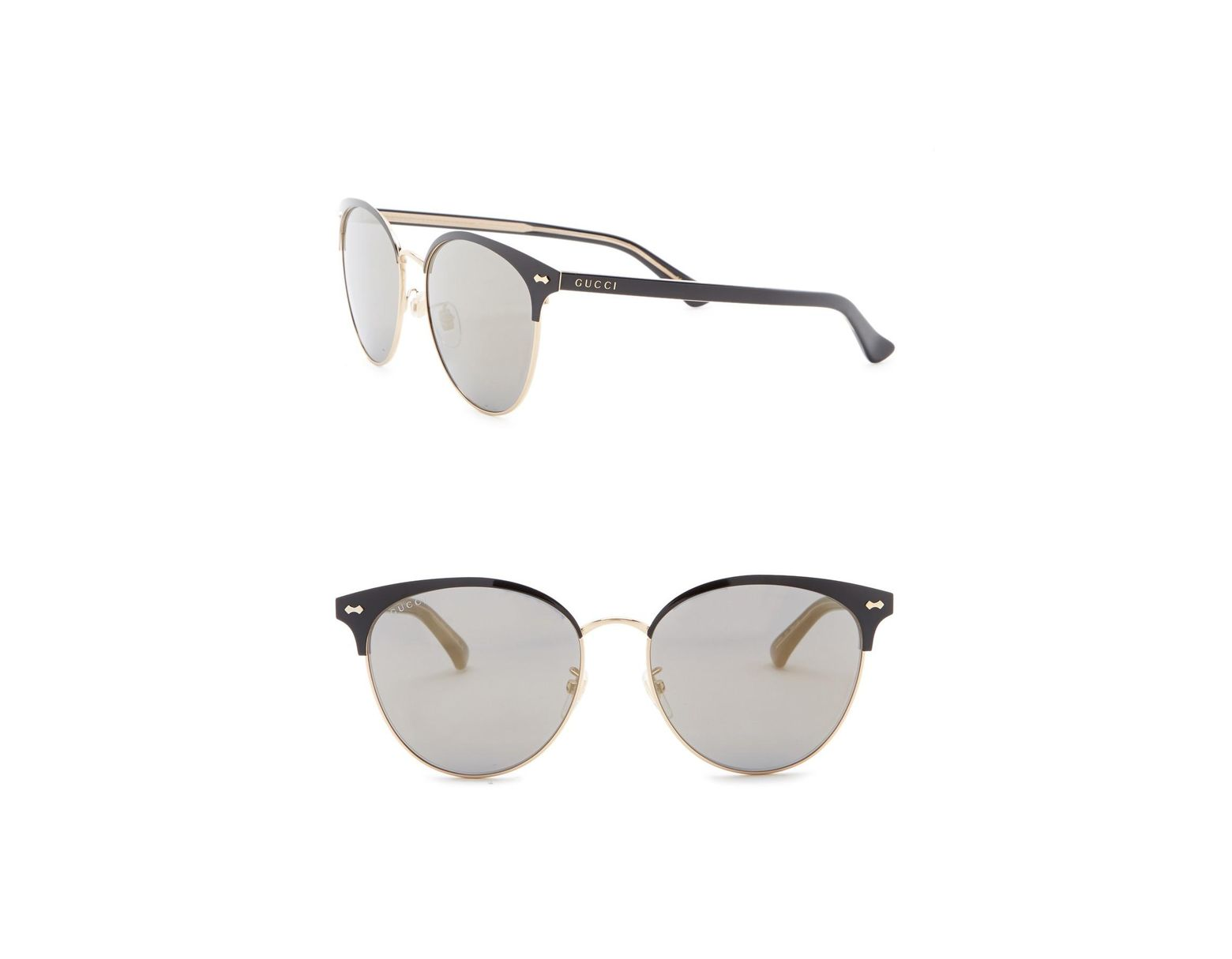 a4514ca14d666 Gucci 58mm Clubmaster Sunglasses in Metallic - Lyst