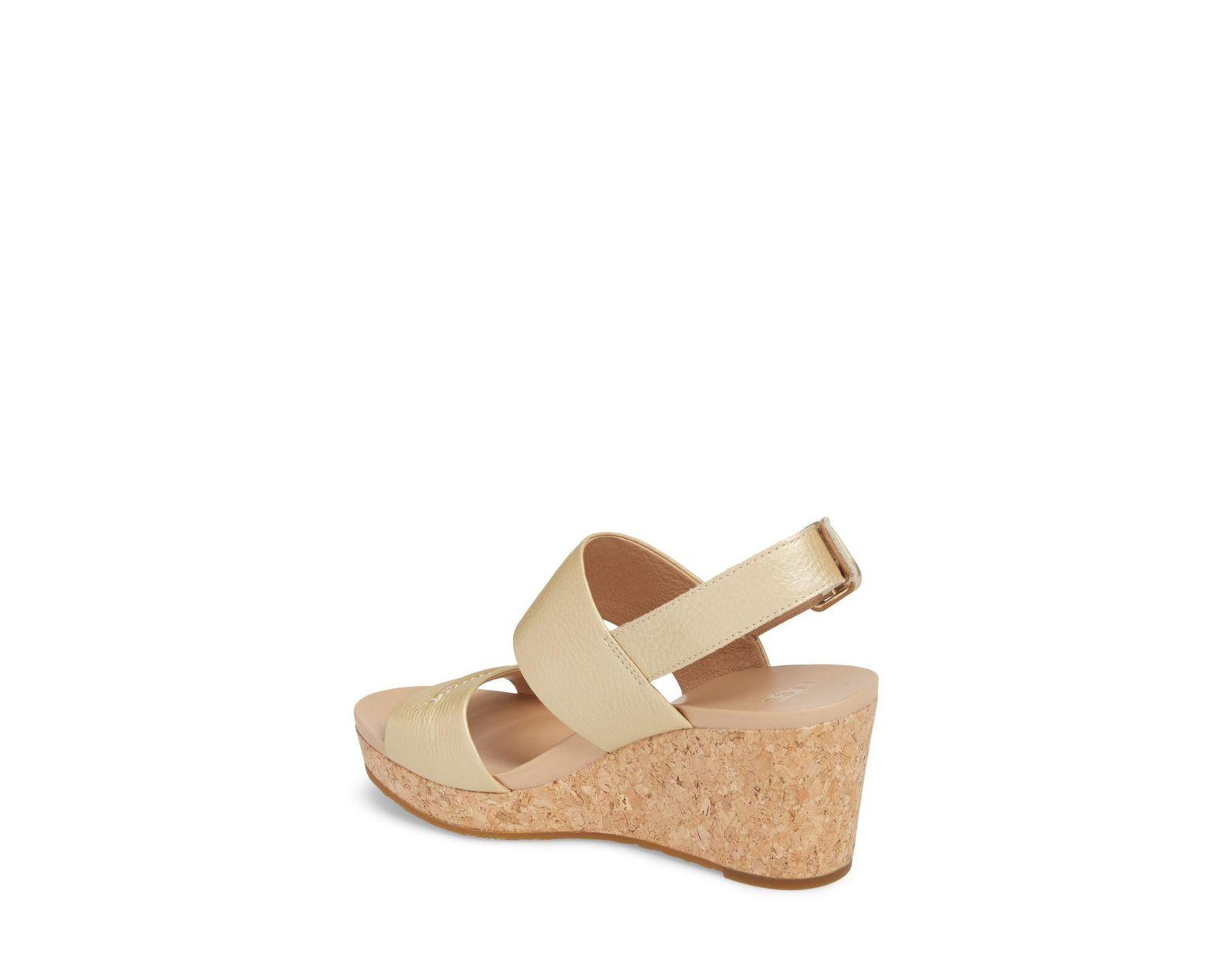 5208775535f Women's (r) Elena Ii Metallic Platform Wedge Sandal