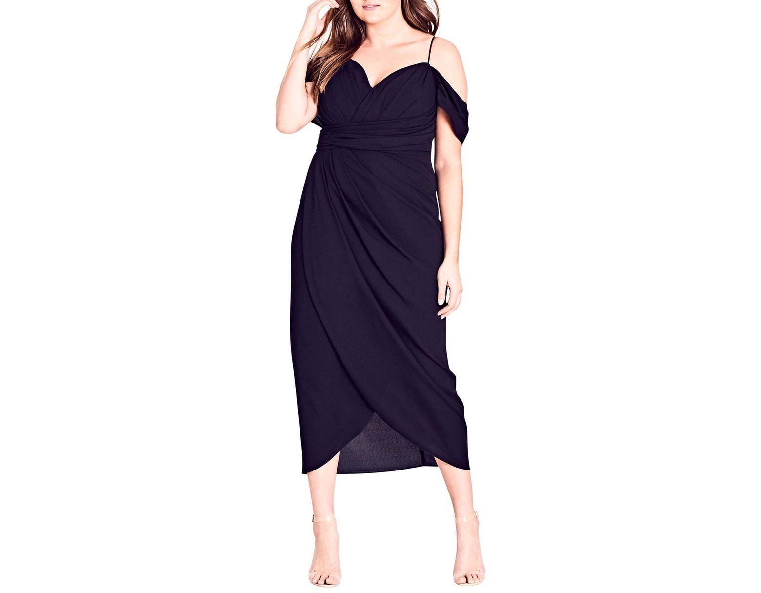 City Chic Entwine Cold Shoulder Maxi Dress (plus Size) in Black ...