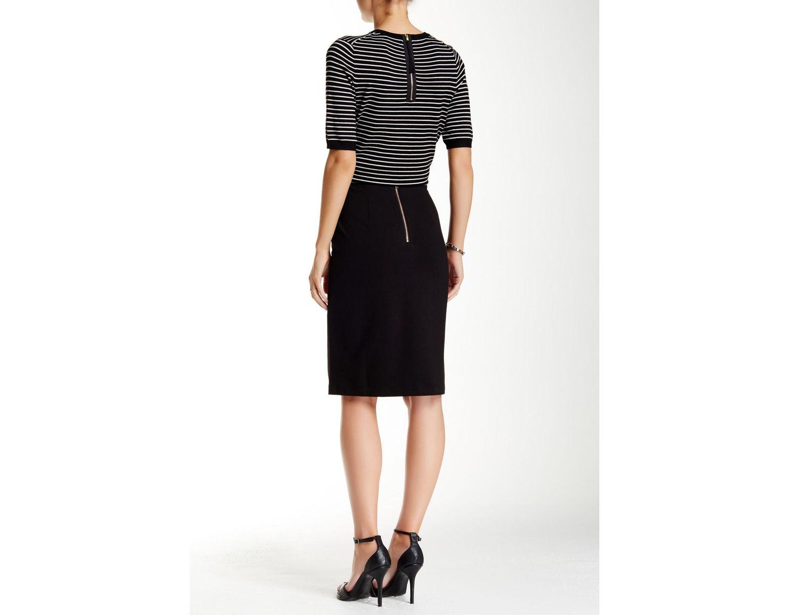 2629f3333d Philosophy Apparel Solid Ponte Pencil Skirt in Black - Lyst
