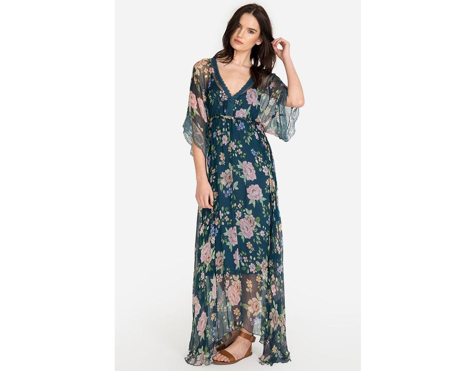 ad8399e767d Johnny Was Dennis Maxi Dress in Blue - Lyst