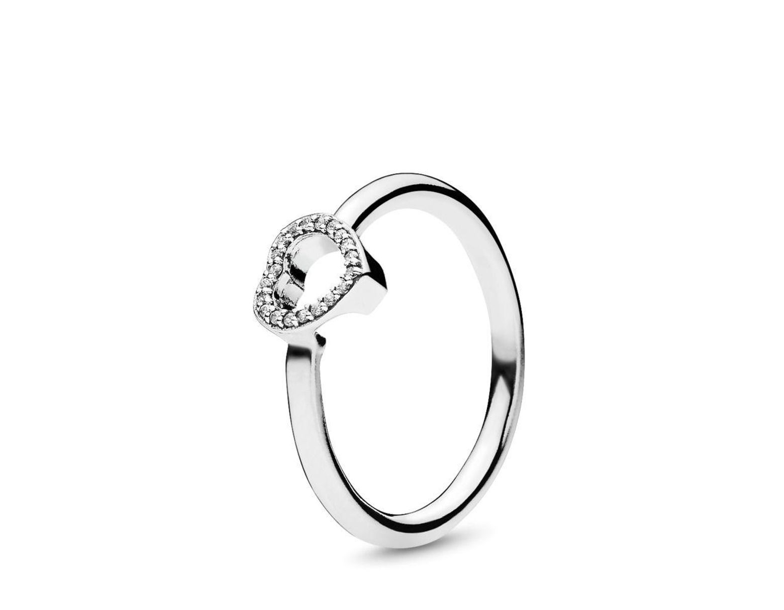 5a939815a PANDORA Puzzle Heart Frame Ring in Metallic - Lyst