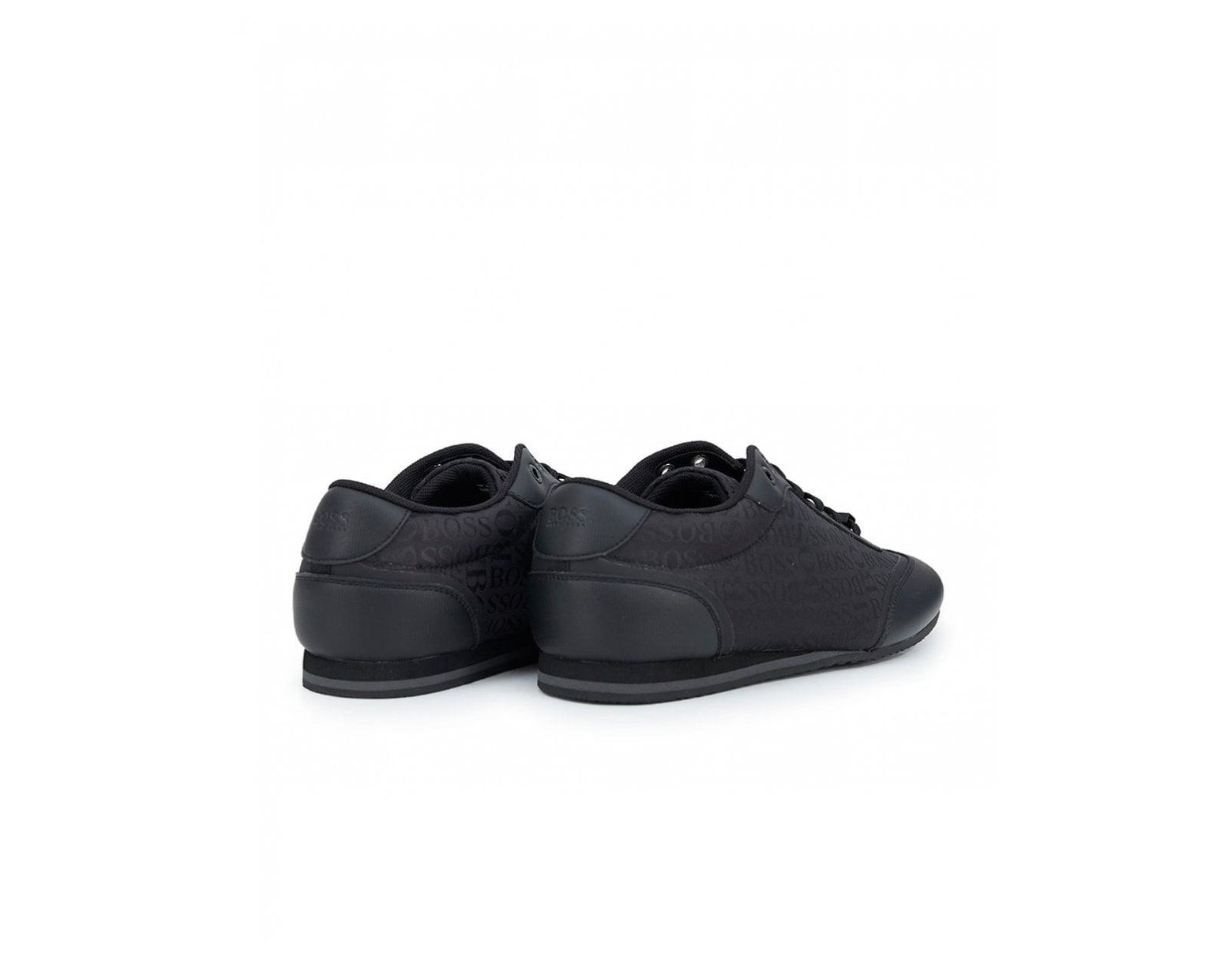 7330465b8 BOSS Lighter Low All Over Logo Trainers in Black for Men - Lyst